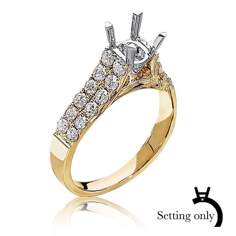 Liv. Diamond 1ctw. Semi-Mount in 14k Yellow Gold
