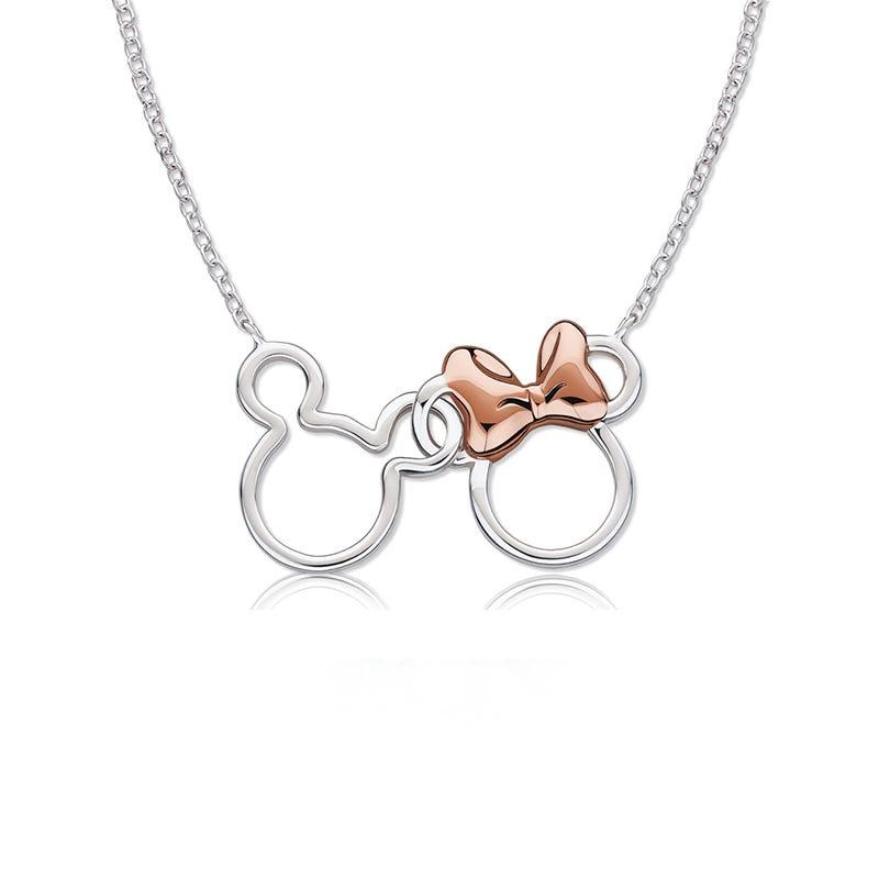 Disney© Mickey & Minnie Interlocking Ears Pendant