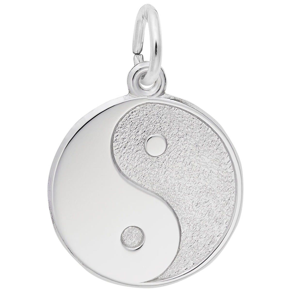 Ying Yang Charm in 14K White Gold