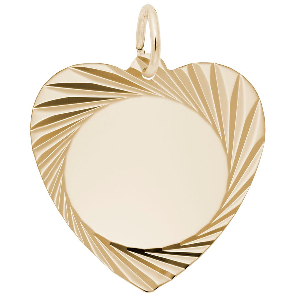 Heart Disc in 14K Yellow Gold