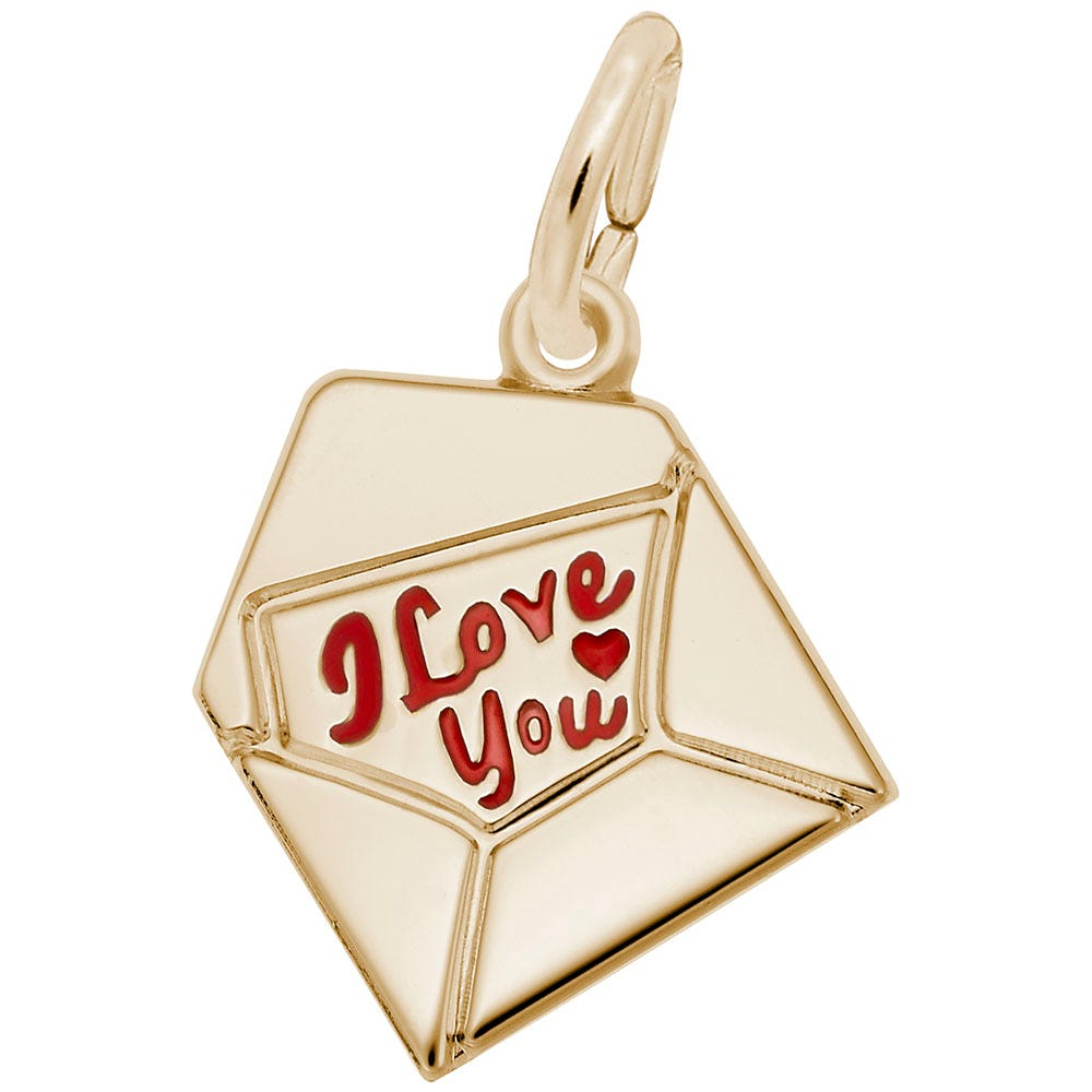 Love Letter Charm in 14K Yellow Gold