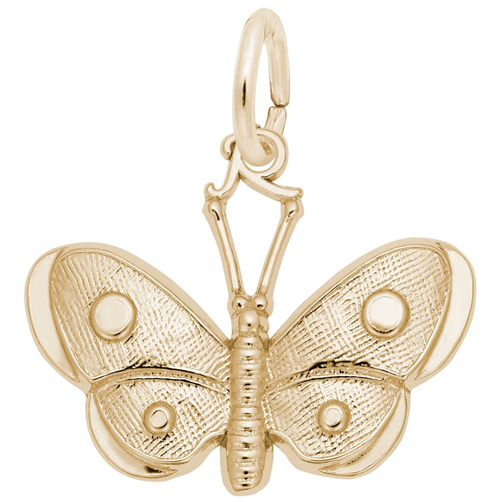 Butterfly Charm in 14K Yellow Gold