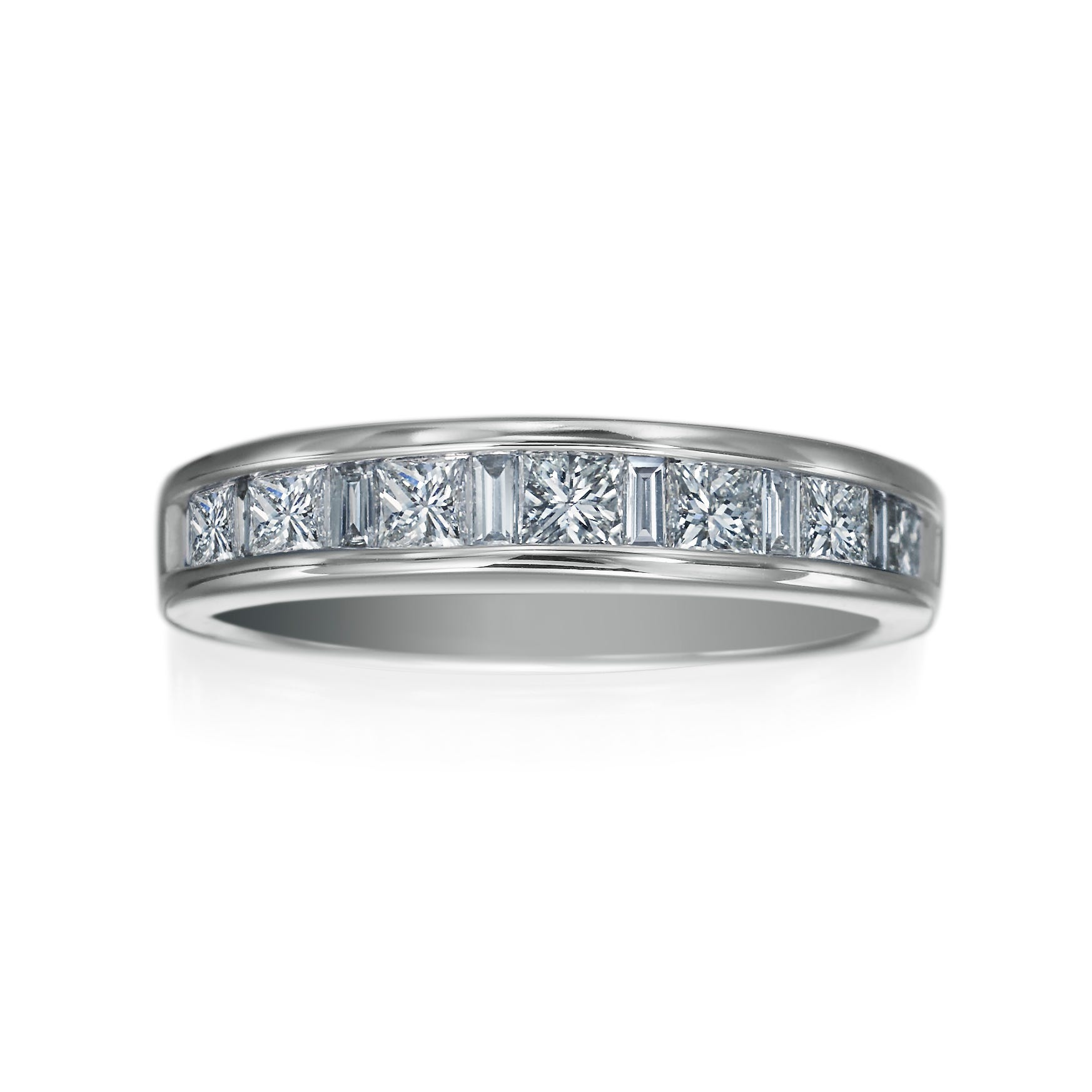 Kallati 1ctw. Diamond Anniversary Band in 14k White Gold