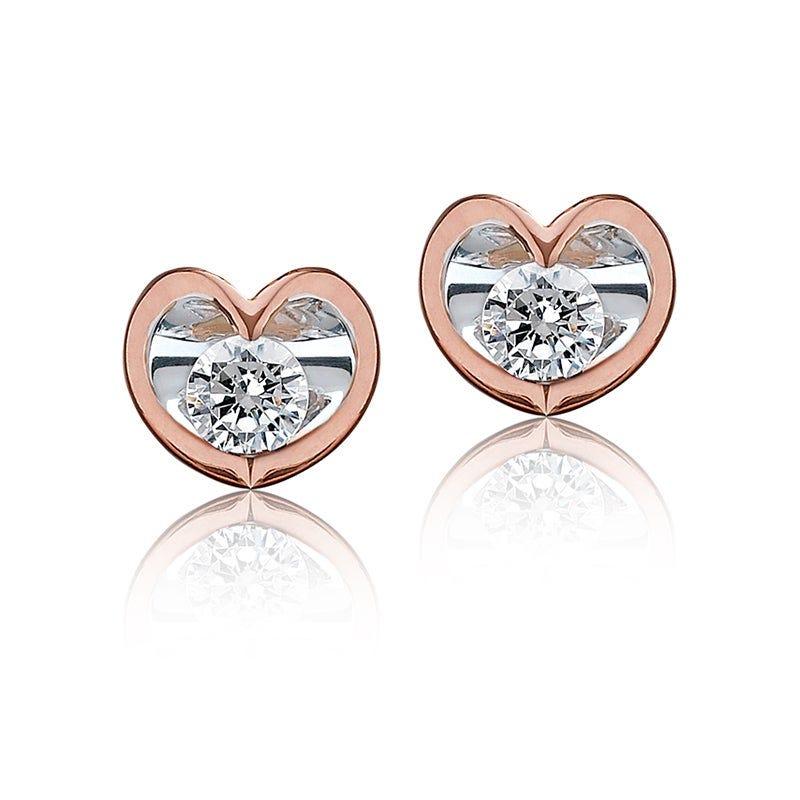 Canadian Diamond Brilliant-Cut Studs in 10k Rose Gold
