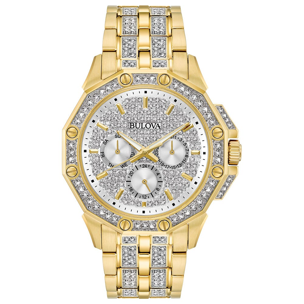 Bulova Men's Watch Crystal Collection 98C126