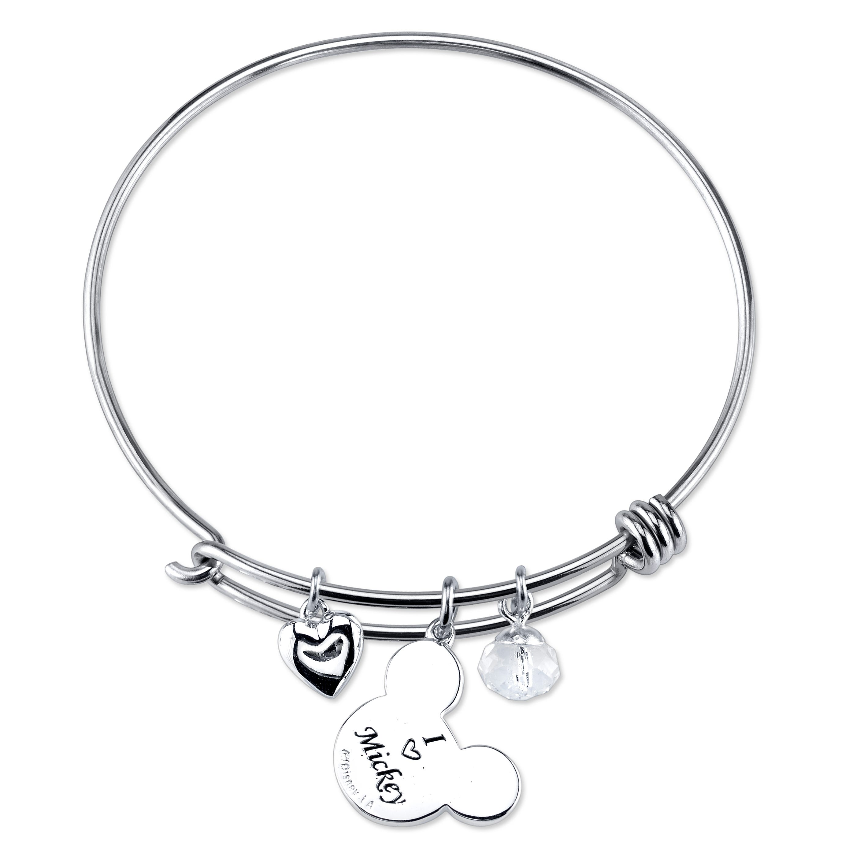 DISNEY© Mickey Mouse I Love Mickey Sterling Silver Bangle