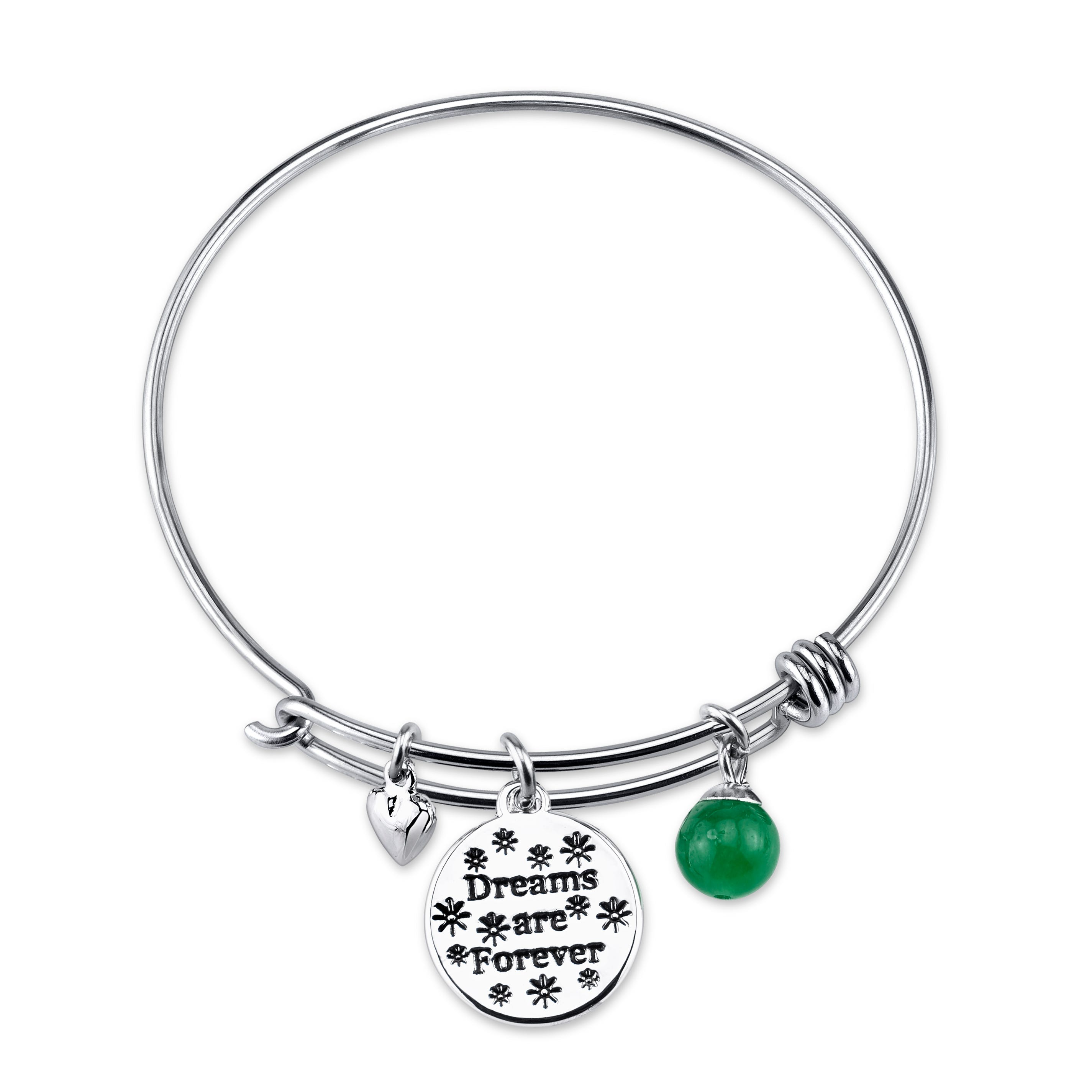 DISNEY© Tinker Bell Dreams Are Forever Sterling Silver Bangle