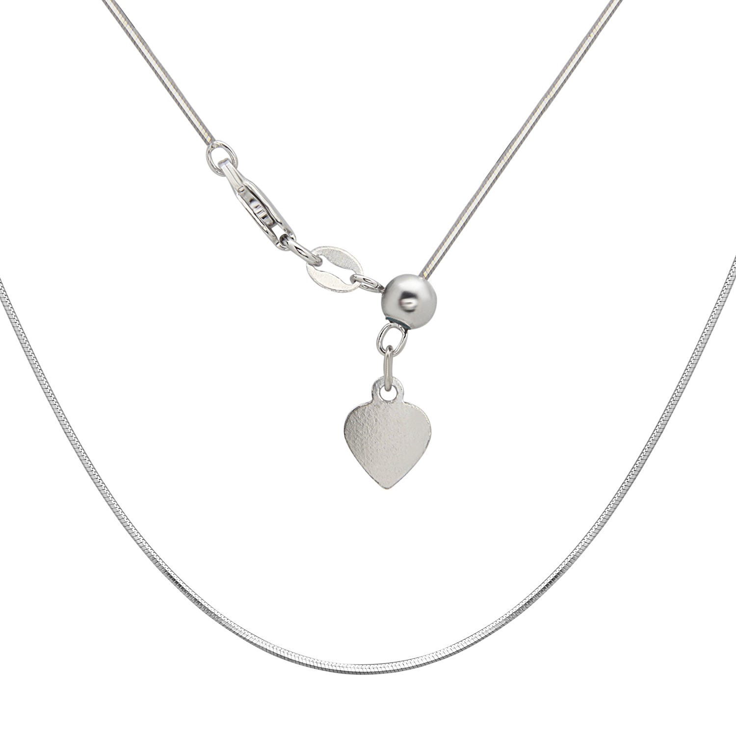 Adjustable Square Snake Chain 14-22