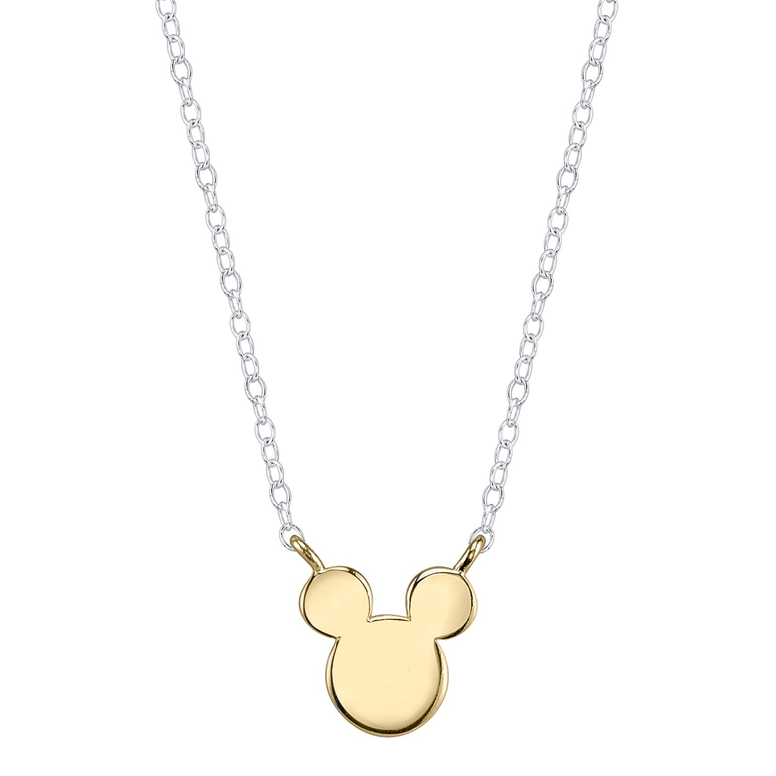 DISNEY© Iconic Mickey Mouse Necklace in 10k Yellow Gold