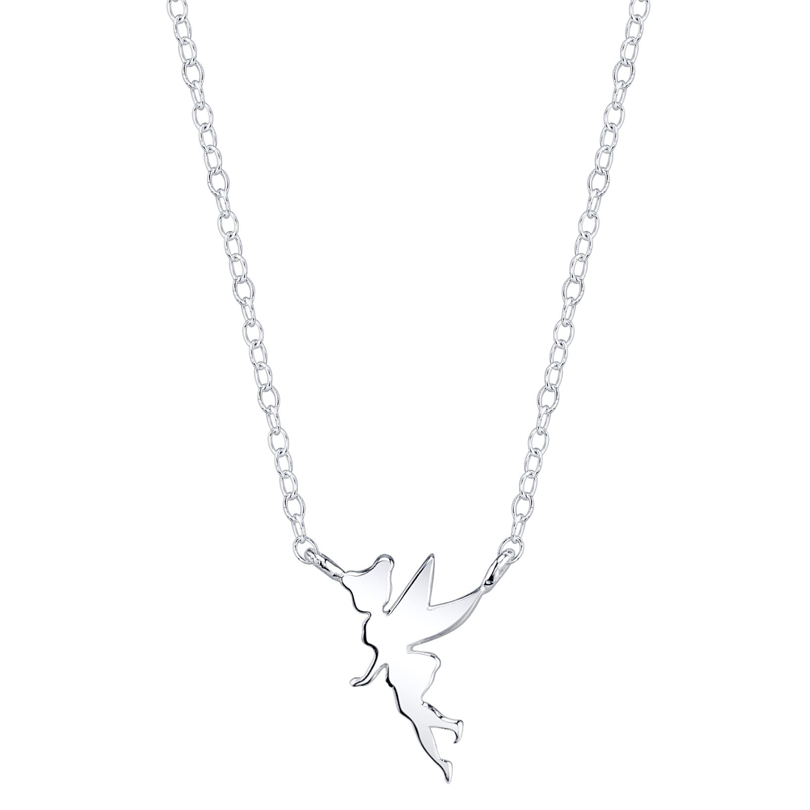 DISNEY© Tinkerbell Silhouette Necklace in Sterling Silver