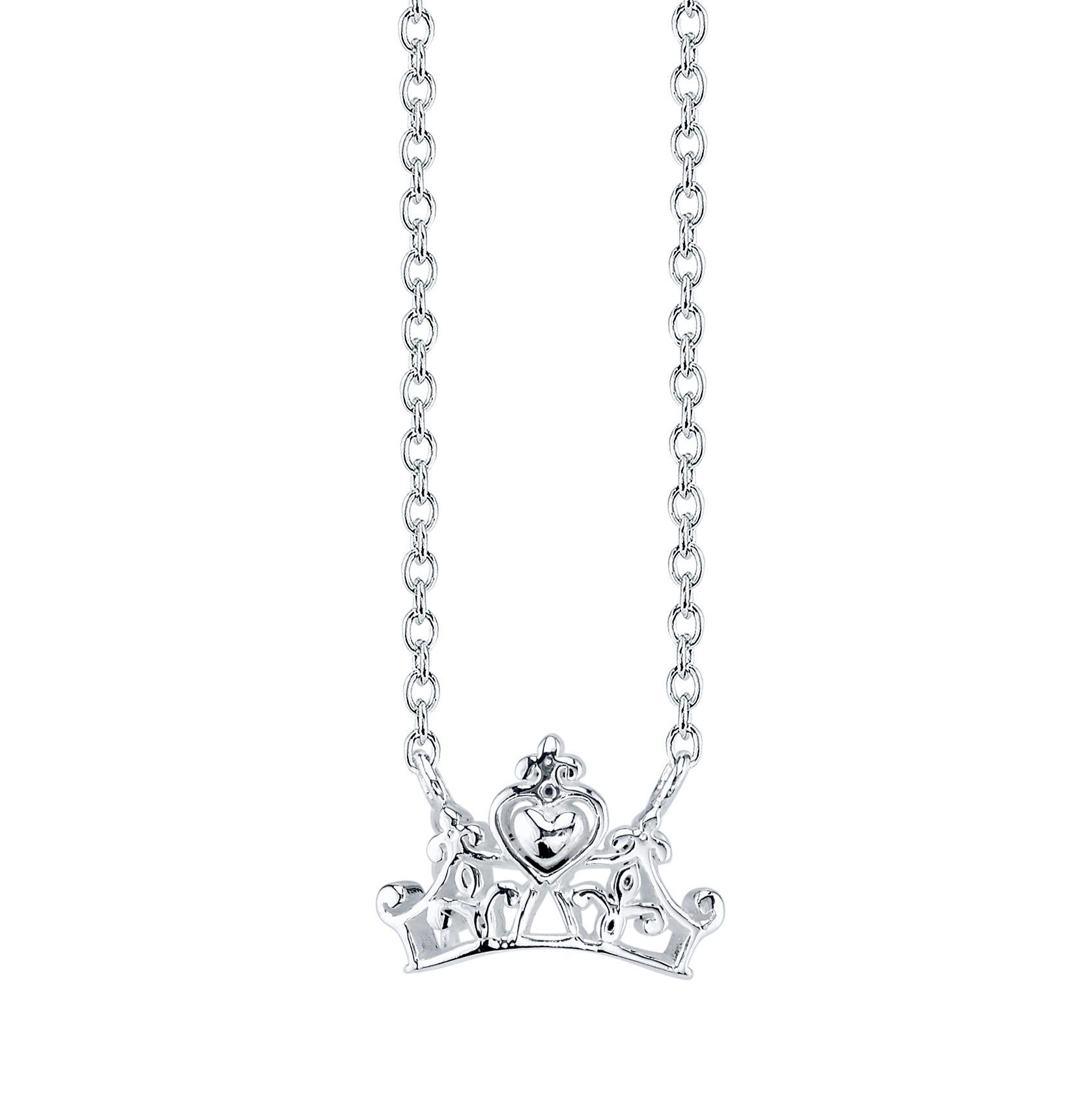DISNEY© Princess Tiara Necklace in Sterling Silver