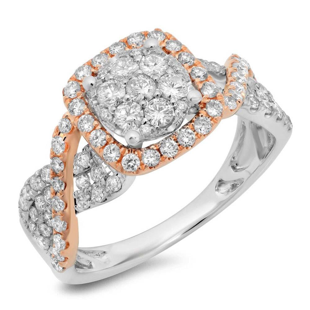 Shy Creation Bridal 1.00ctw Diamond Engagement Ring in 14k Pink Gold SC22003958