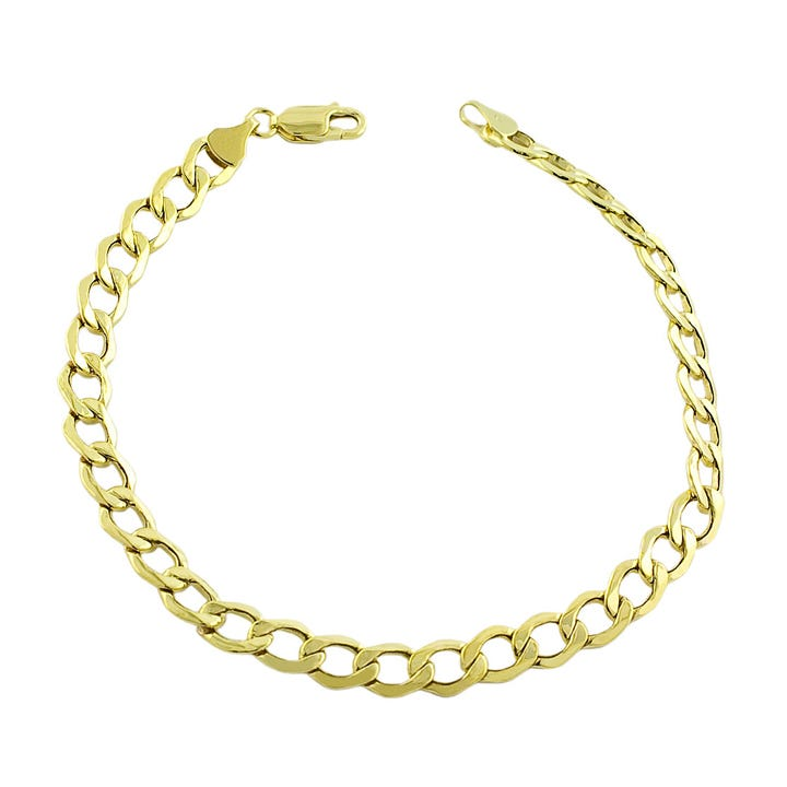 Curb Linked Bracelet in 10k Yellow Gold