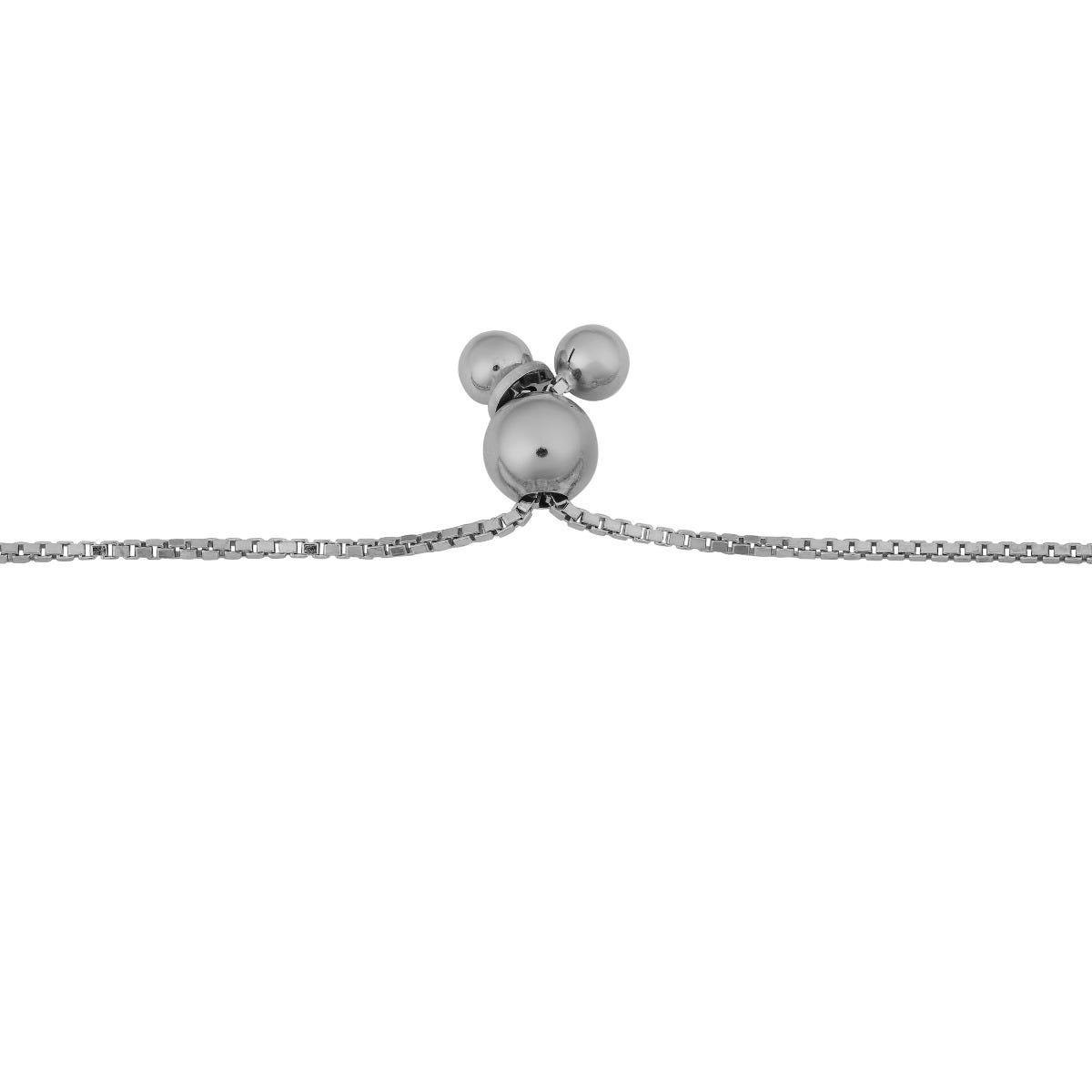 Adjustable Bolo Graduated Bead Bracelet in Sterling Silver