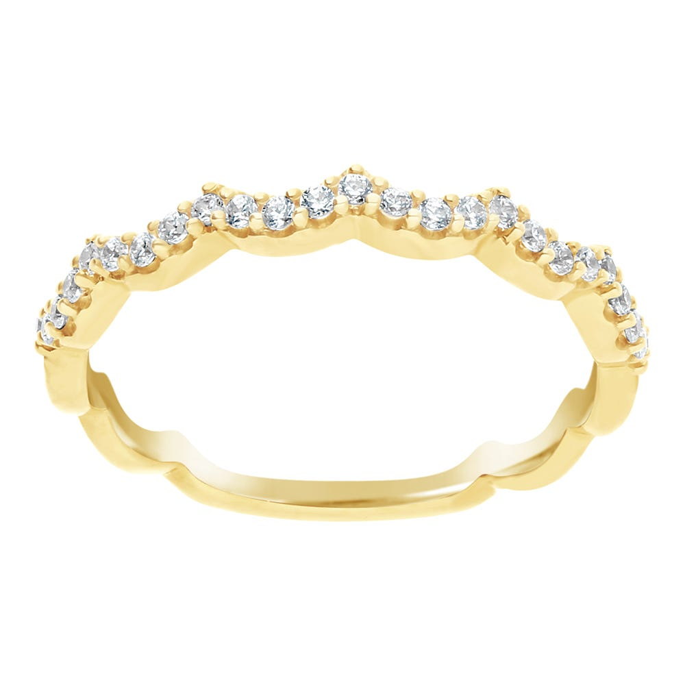 Diamond Round Stackable .20ctw Band in 10k Yellow Gold
