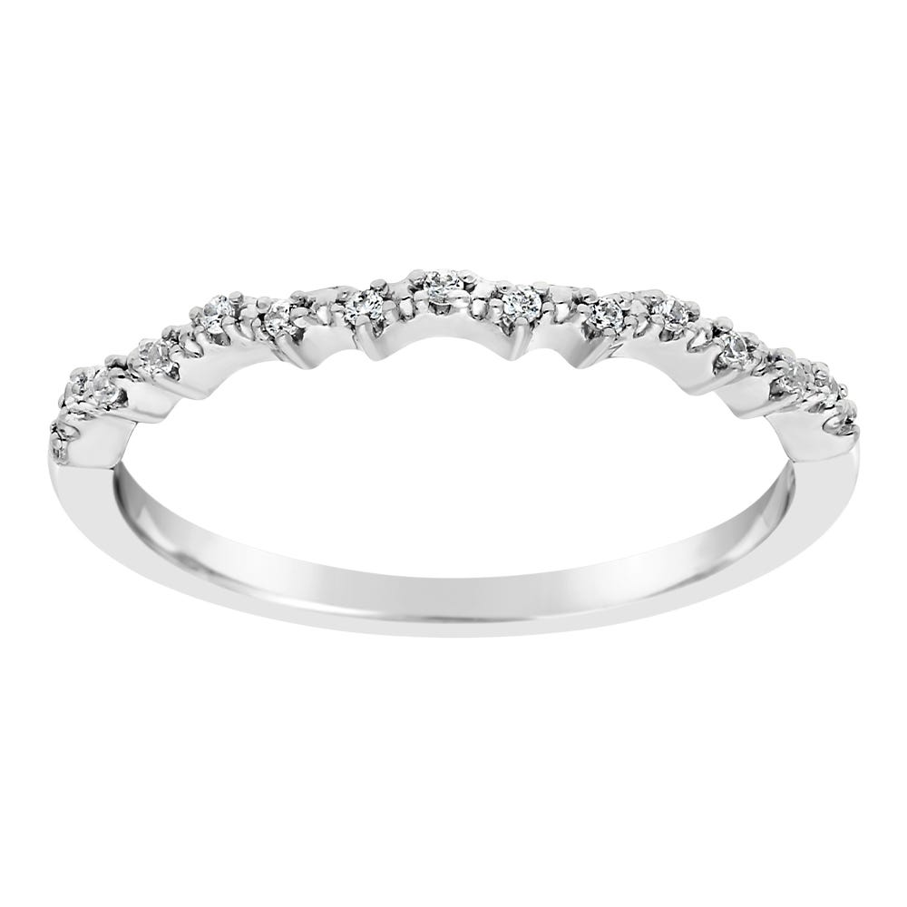Diamond Round Stackable .07ctw Bank in 10k White Gold