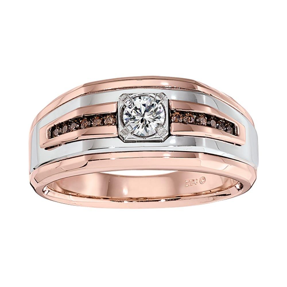 IBGoodman White & Brown Genuine Diamond Fashion Ring