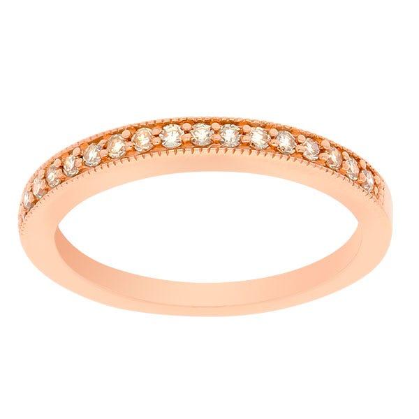 Ladies Diamond .20ctw. Wedding Band in 10k Rose Gold
