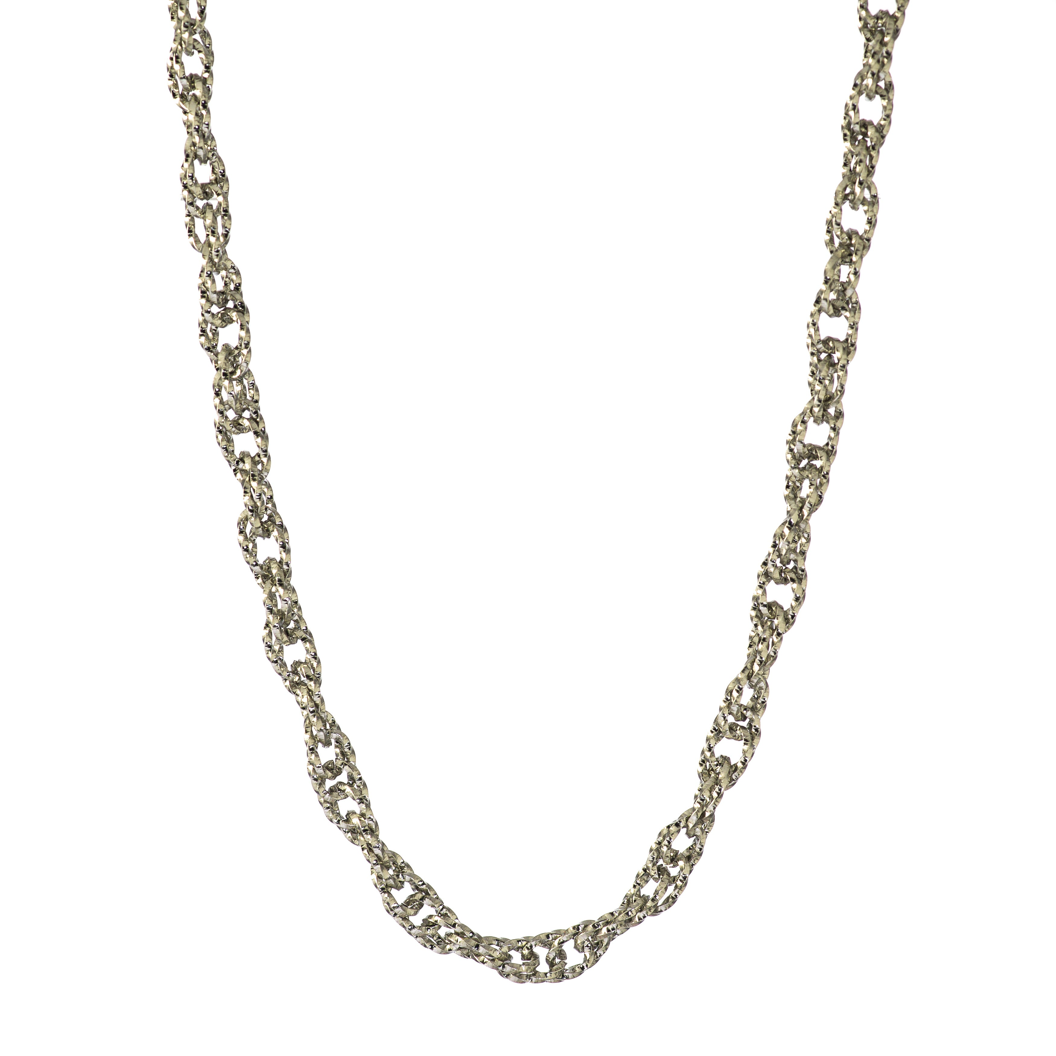 Cable Chain Fashion Necklace Stainless Steel