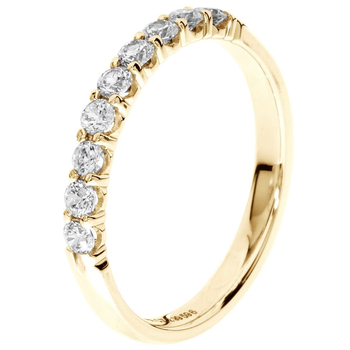 9-Stone Diamond Band 1/3 ctw. (H-I, I1) 14k Yellow Gold