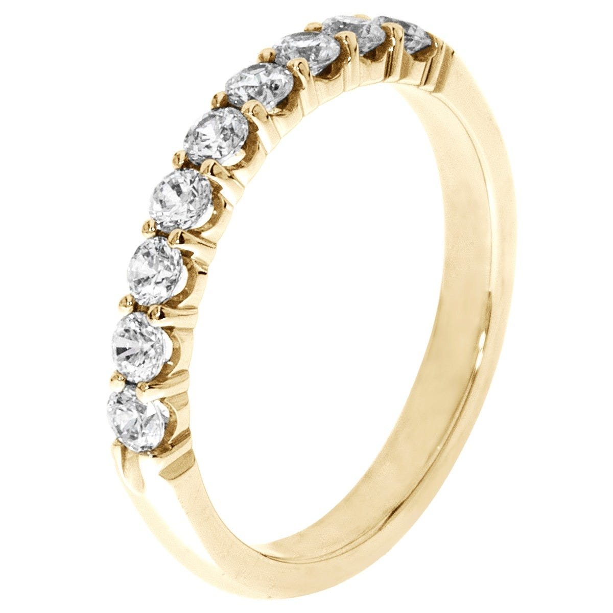 9-Stone Diamond Band 1/2 ctw. (G-H, I1-I2) 10k Yellow Gold