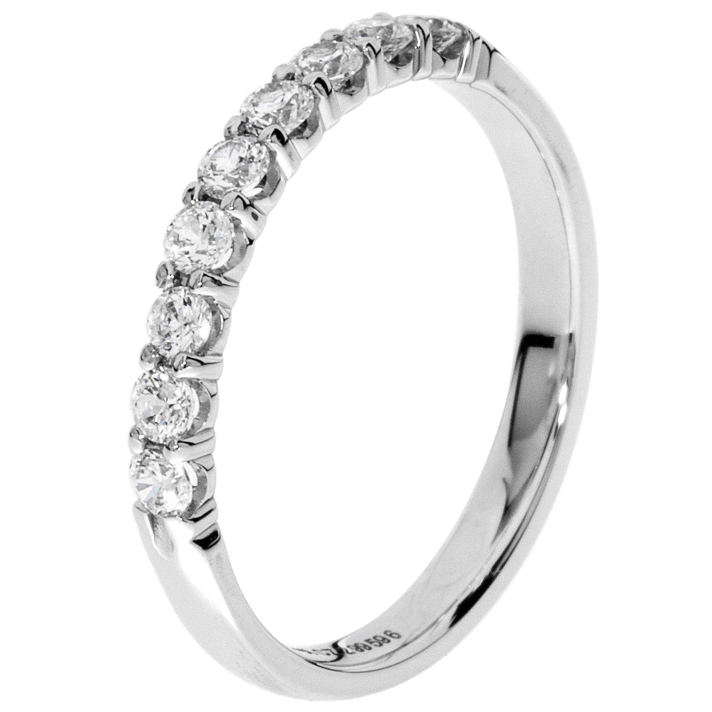9-Stone Diamond Band 1/3 ctw. (H-I, I1-2) 10k White Gold