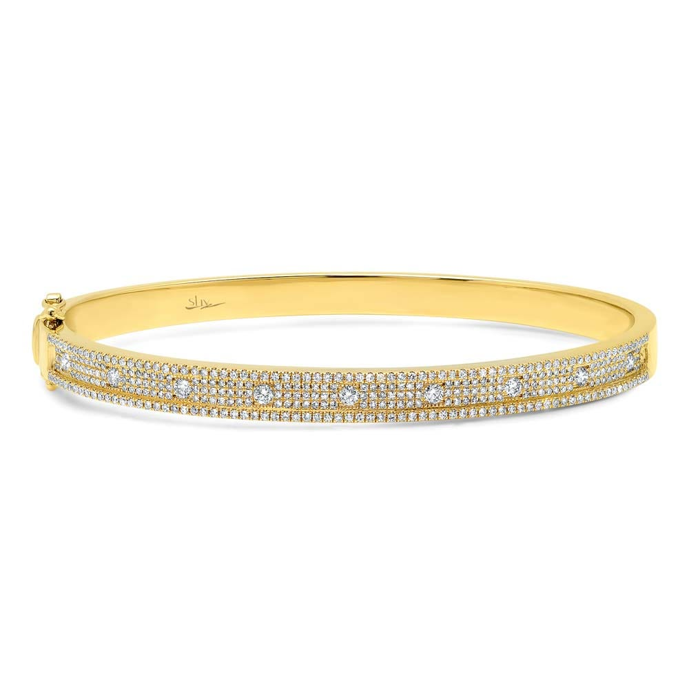 Shy Creation Diamond 1ctw. Bangle Bracelet in 14k Yellow Gold SC55004237V2ZS