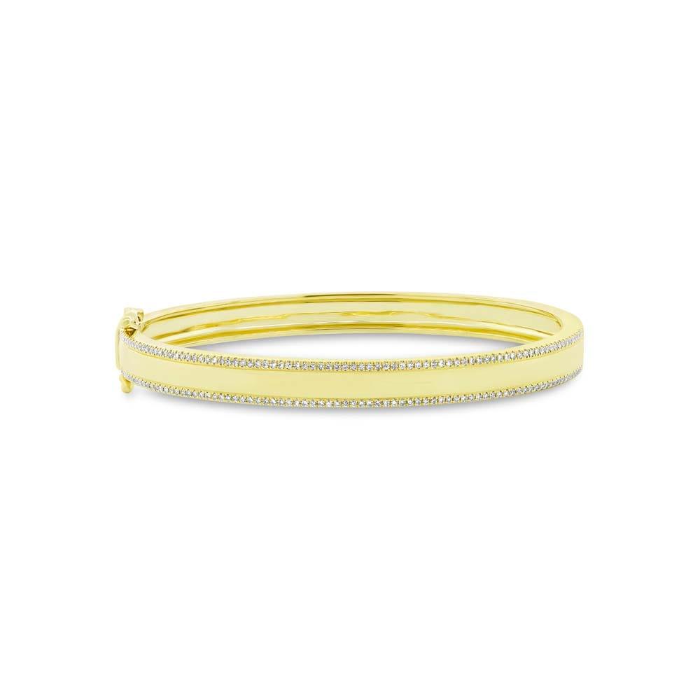 Shy Creation  Two-Row 1/2ctw. Diamond Bangle Bracelet in 14k Yellow Gold SC550033081ZS