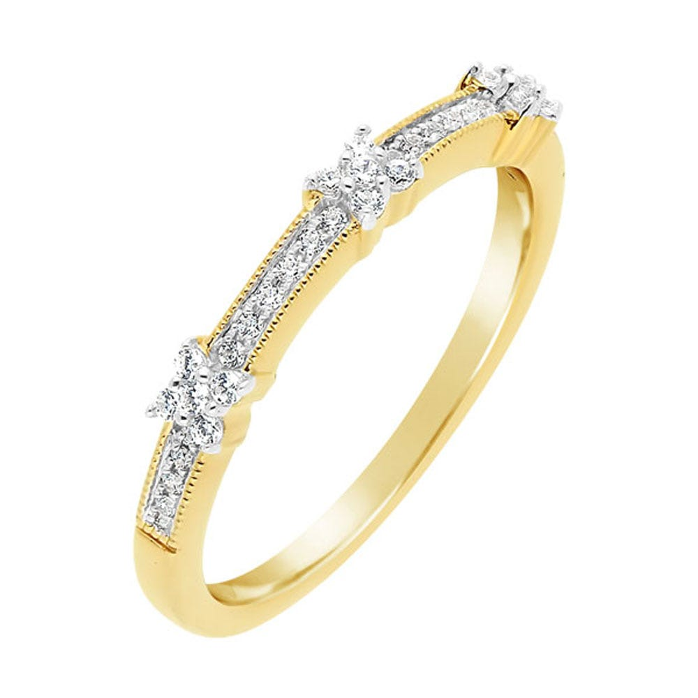 Ladies 10k Yellow Gold .20ctw. Diamond Band
