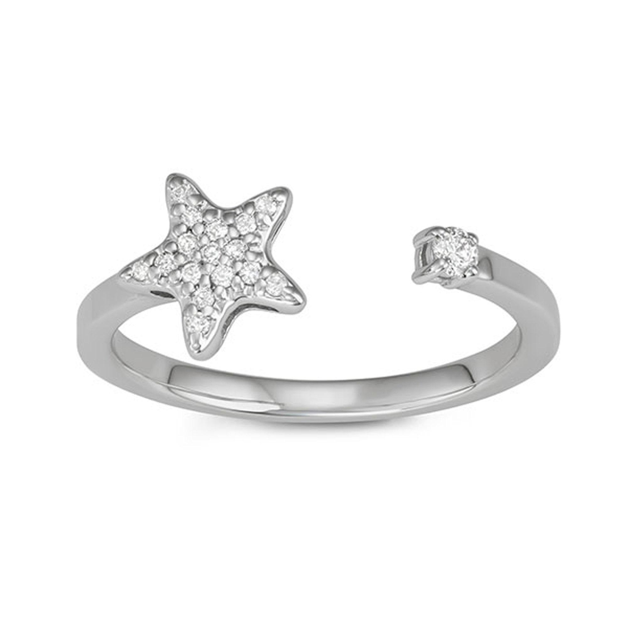 Medium Width Star Ring
