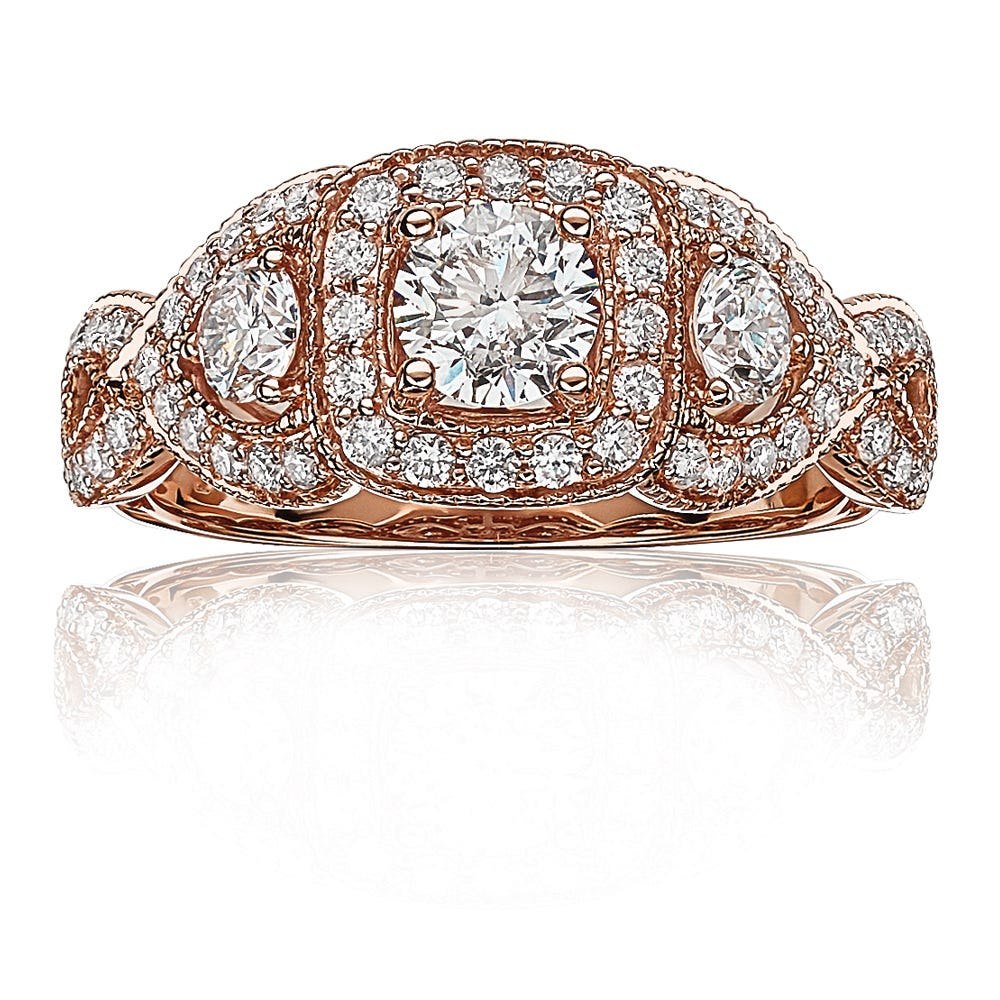 Mia. LIMITED EDITION Diamond Engagement Ring in 14k Rose Gold