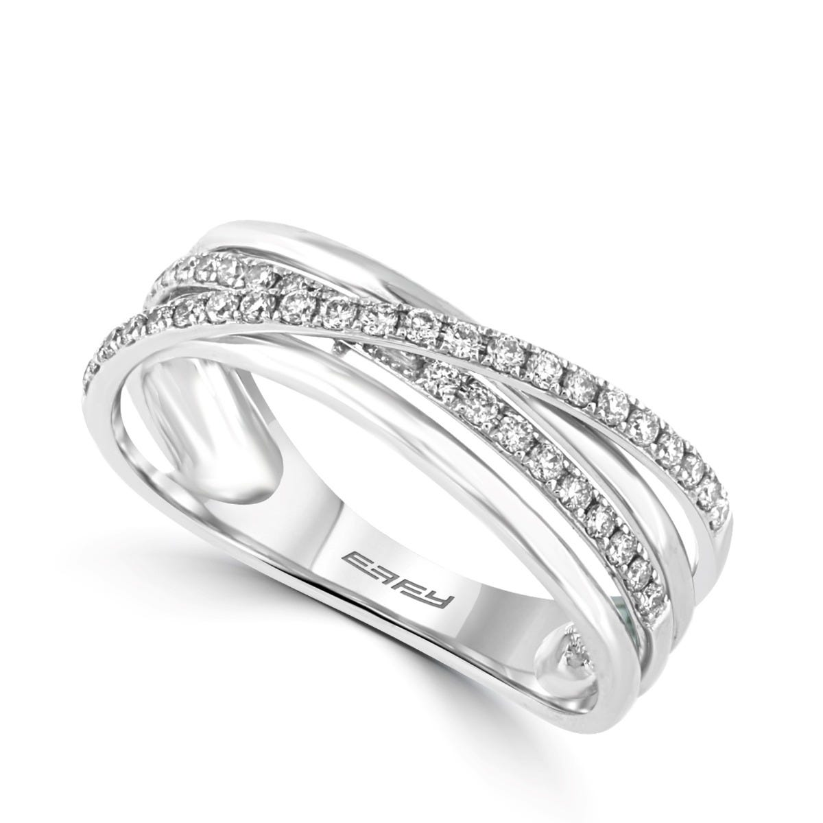 Effy Criss Cross Fashion Ring in 14k White Gold