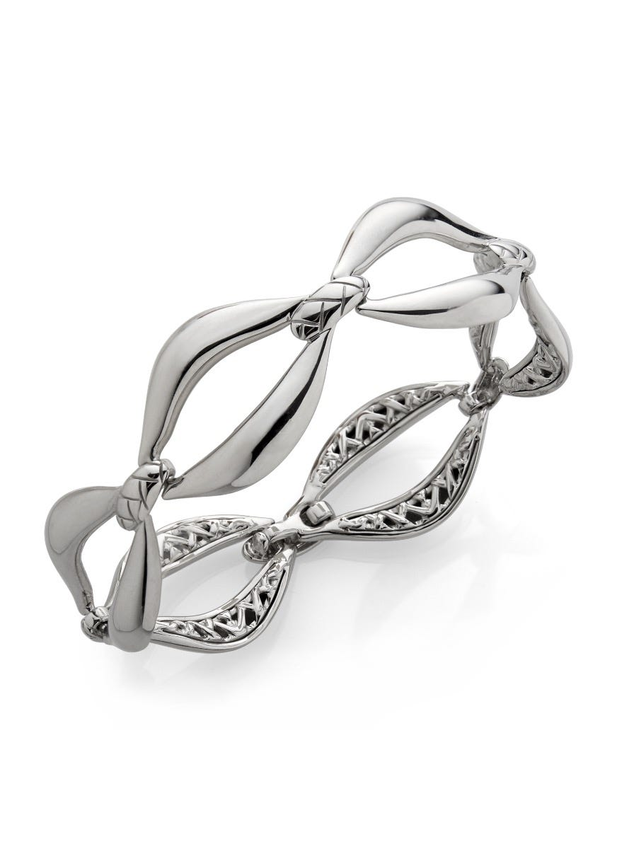 Braid Link Bracelet in Sterling Silver