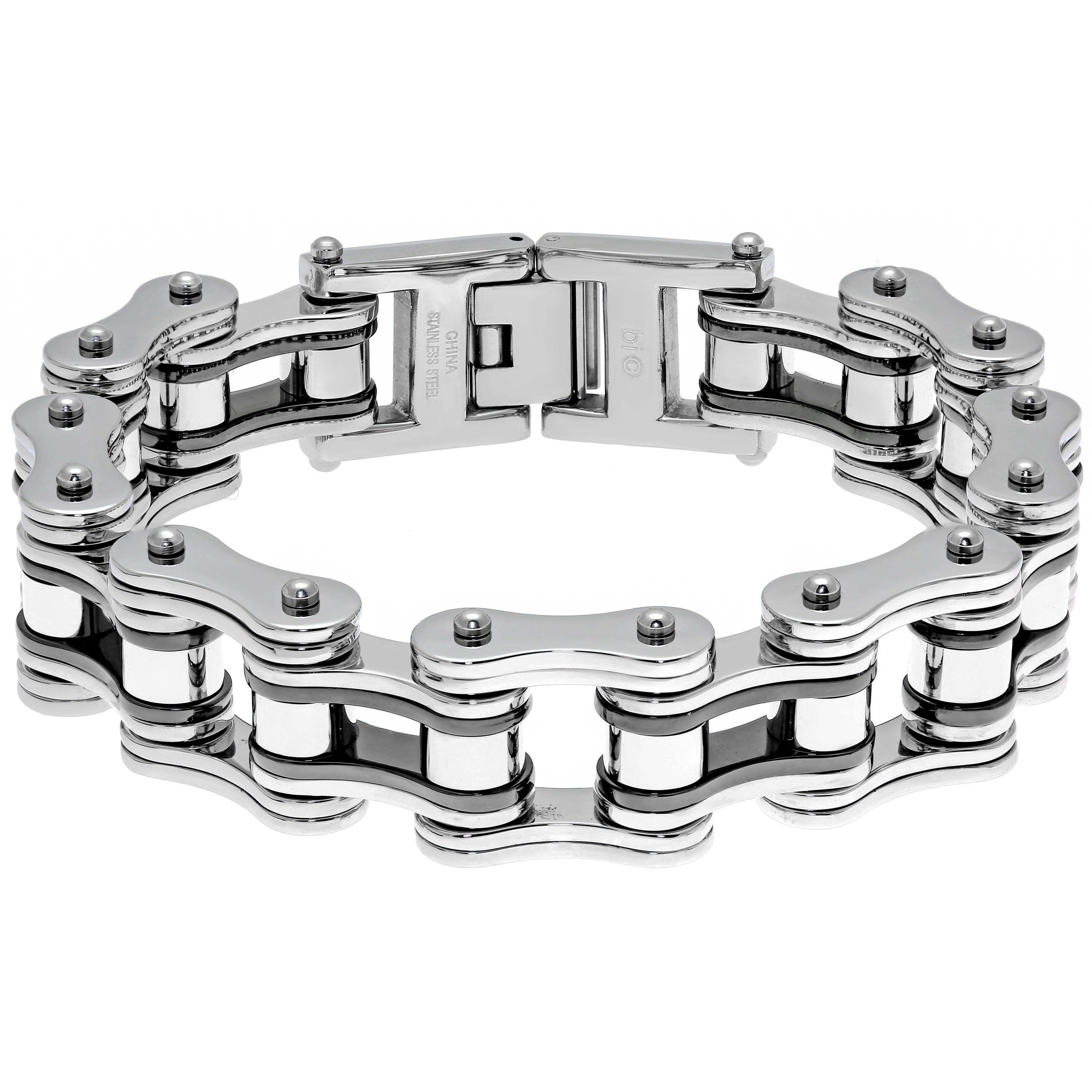 Men's Stainless Steel Motorcycle Chain Bracelet