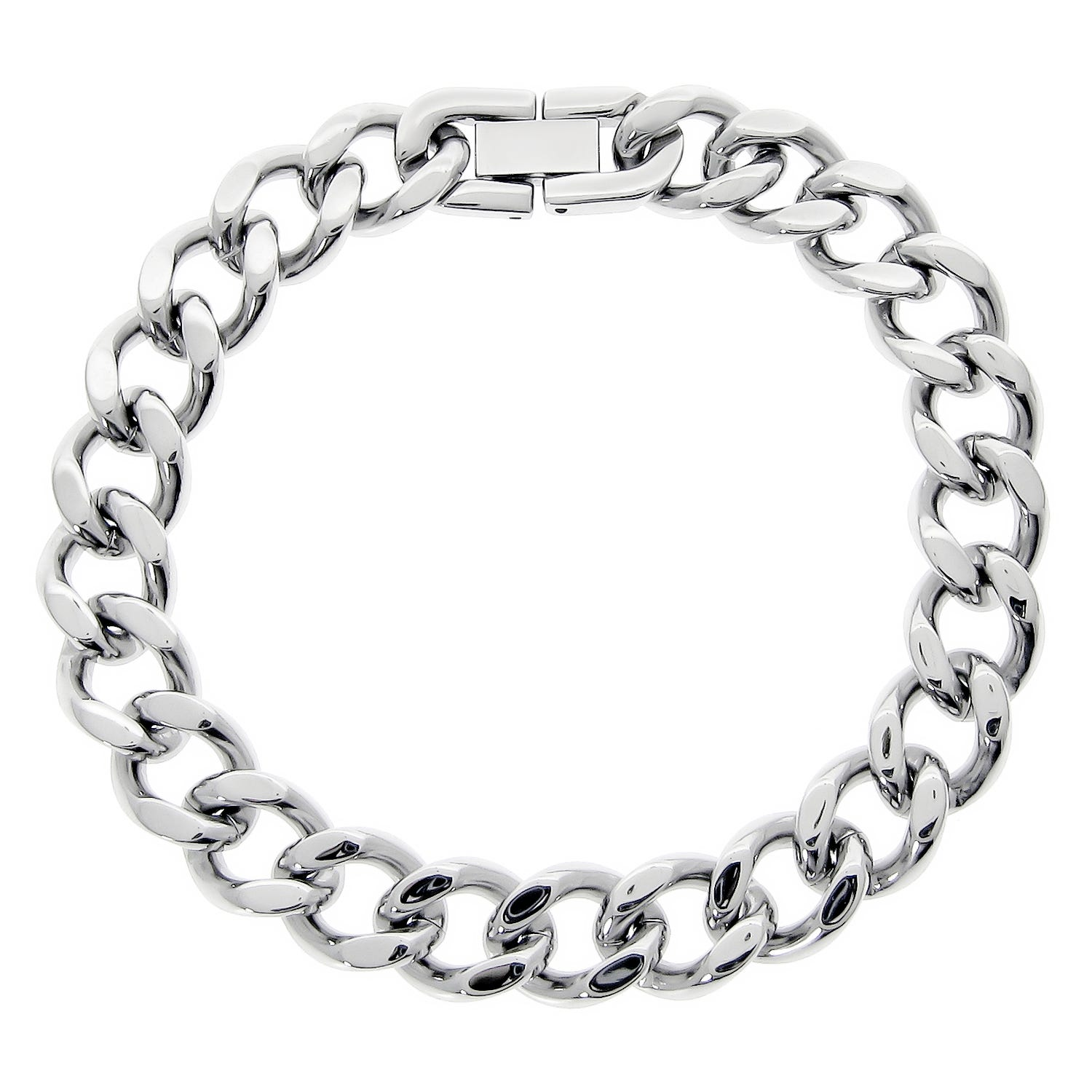 Stainless Steel Chunky Chain Link Bracelet