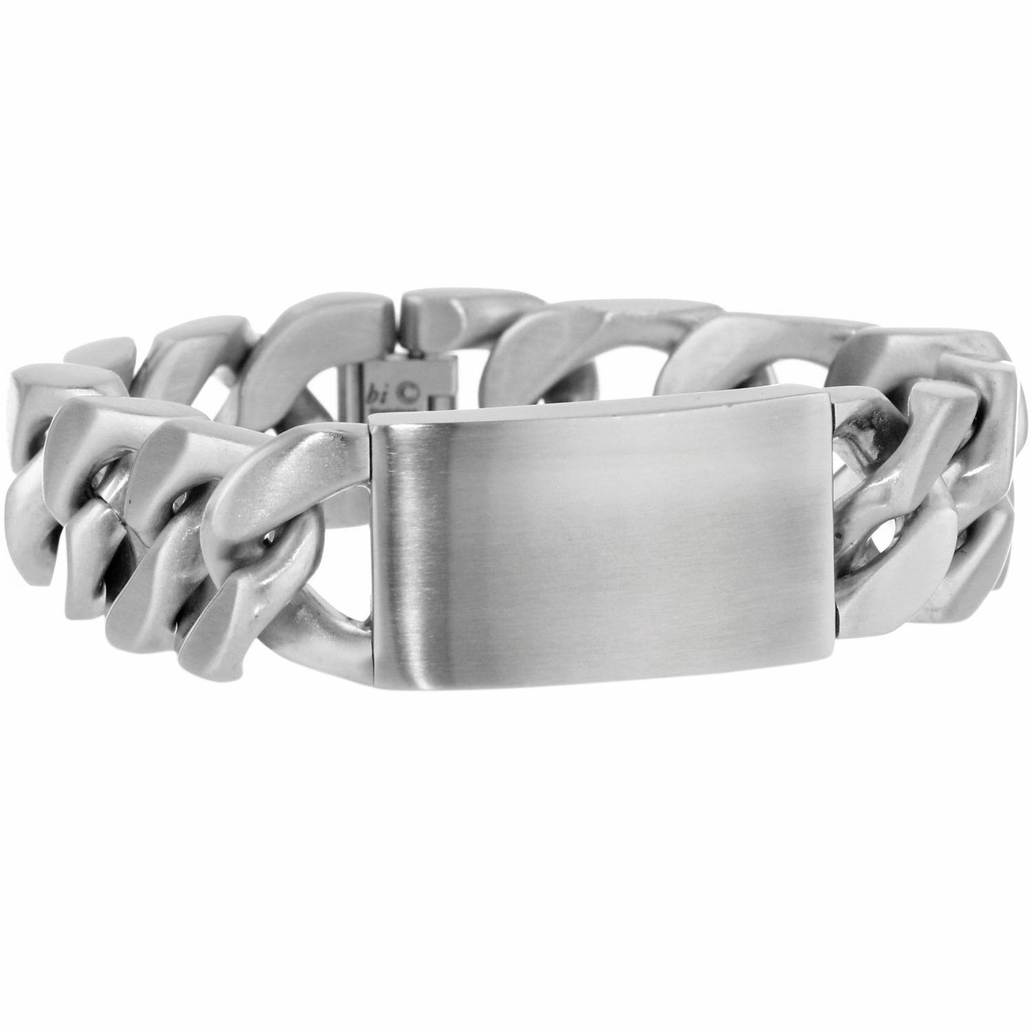 Men's Stainless Steel Chunky ID Chain Link Bracelet