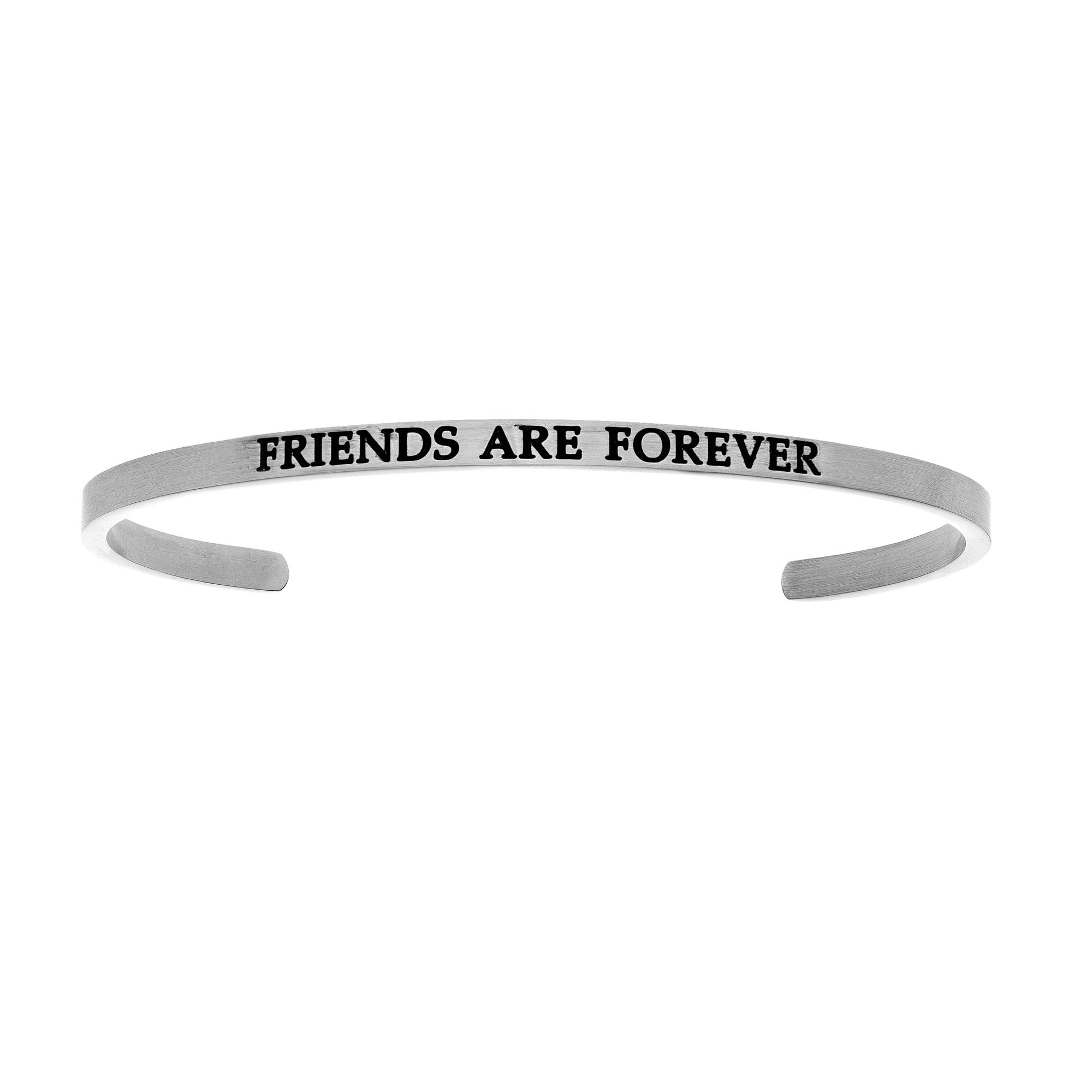 Friends Are Forever. Intuitions Cuff Bracelet in White Stainless Steel