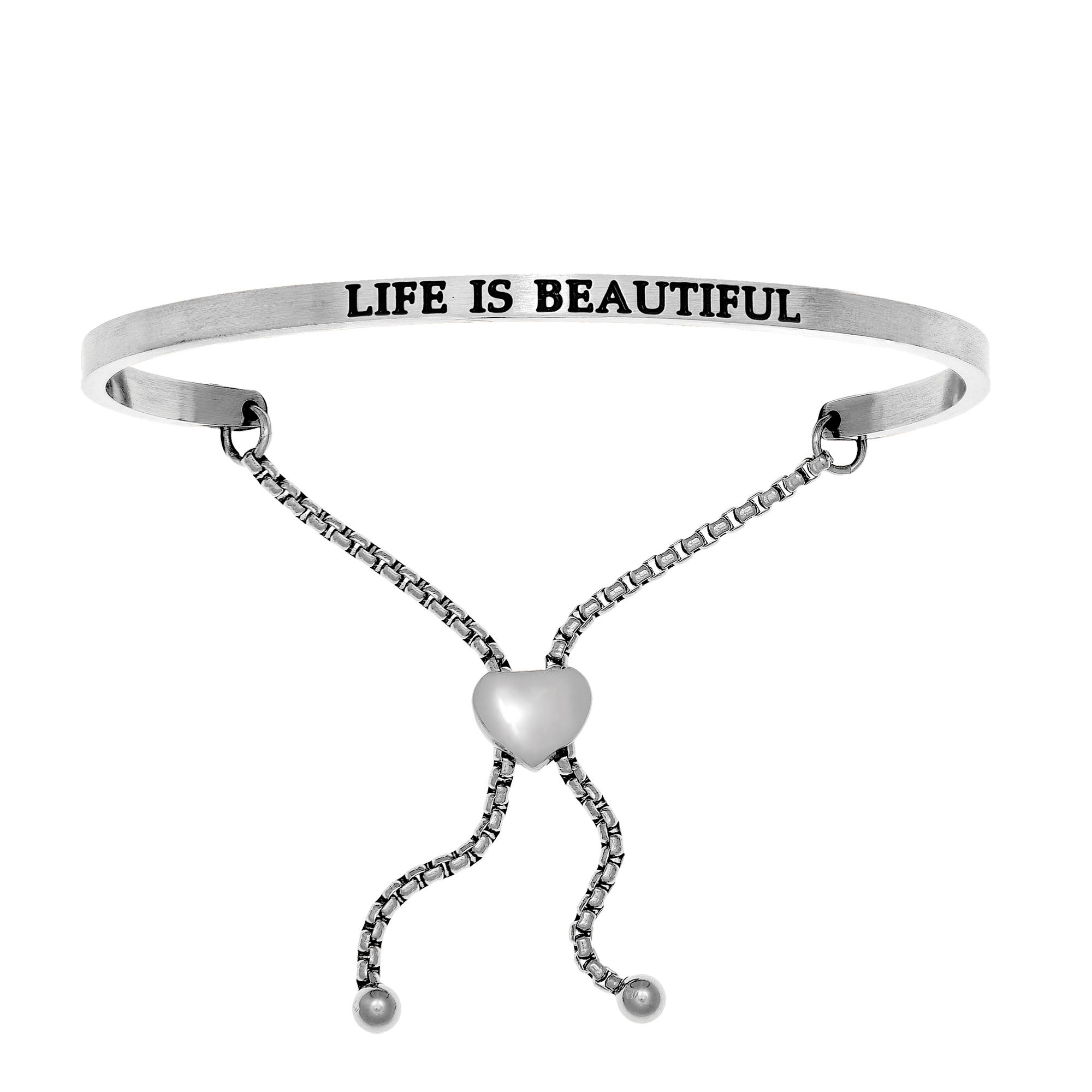 Life Is Beautiful. Intuitions Bolo Bracelet in White Stainless Steel