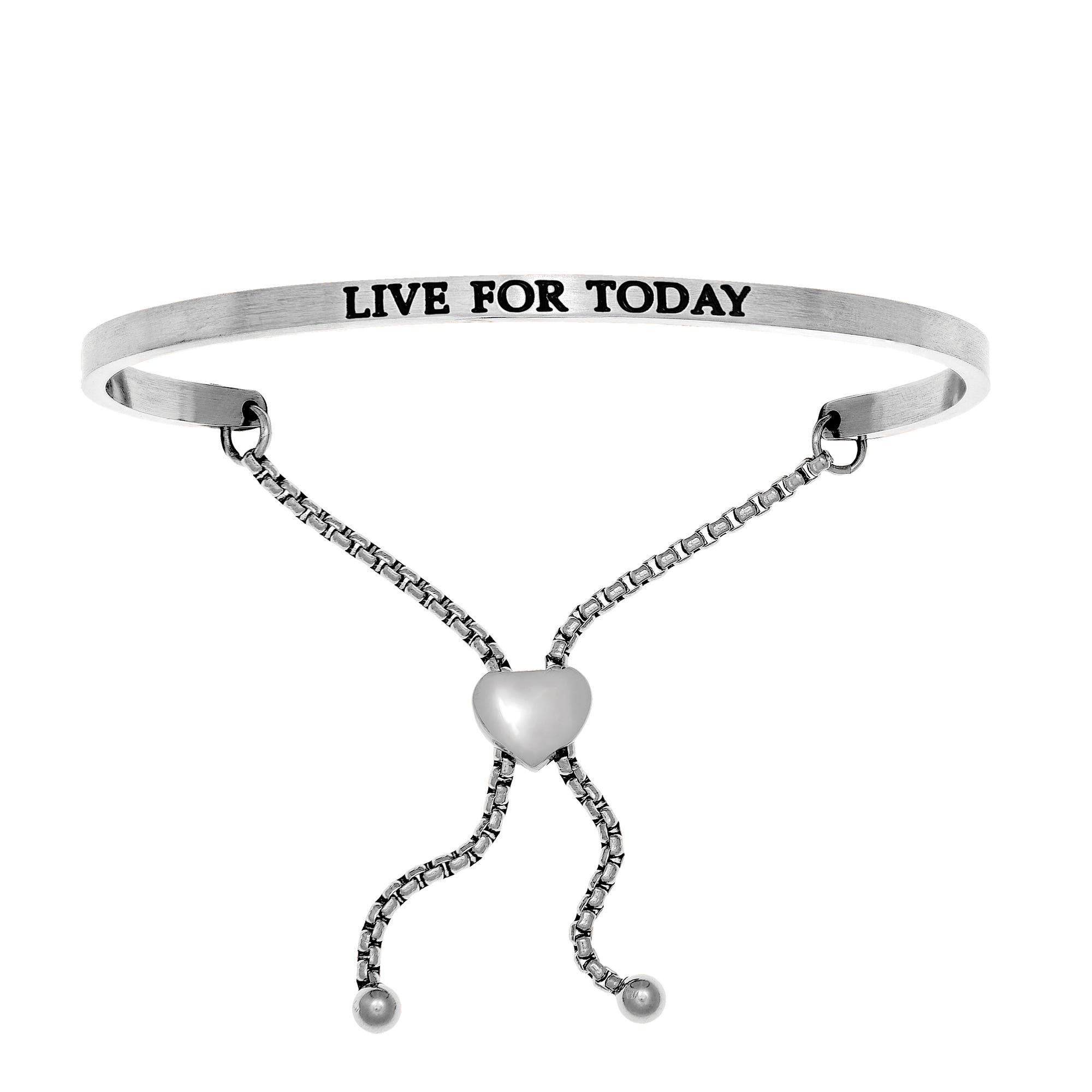 Live For Today. Intuitions Bolo Bracelet in White Stainless Steel