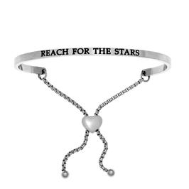 Reach For The Stars. Intuitions Bolo Bracelet in White Stainless Steel