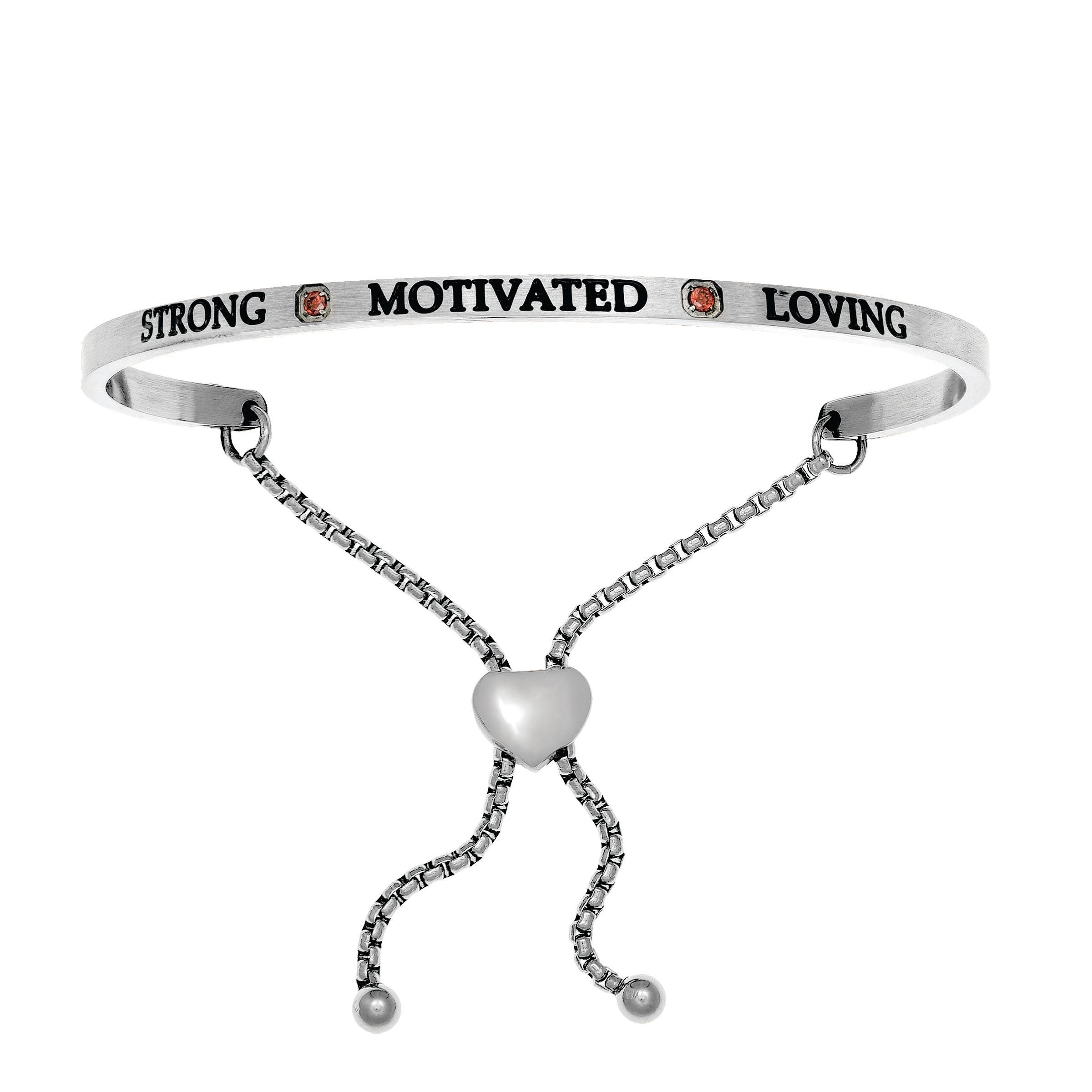 Strong & Motivated January. Intuitions Bolo Bracelet in White Stainless Steel