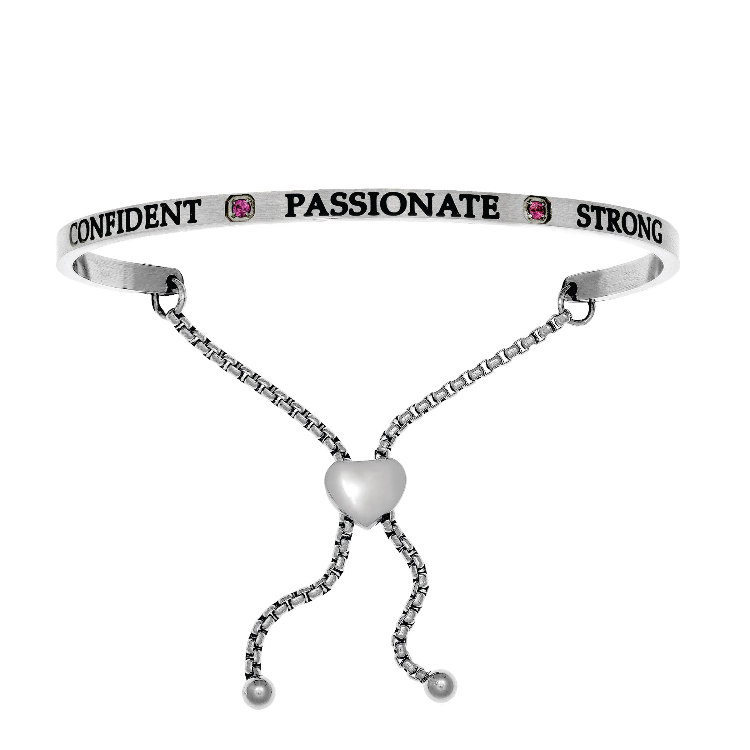 Confident & Passionate July. Intuitions Bolo Bracelet in White Stainless Steel