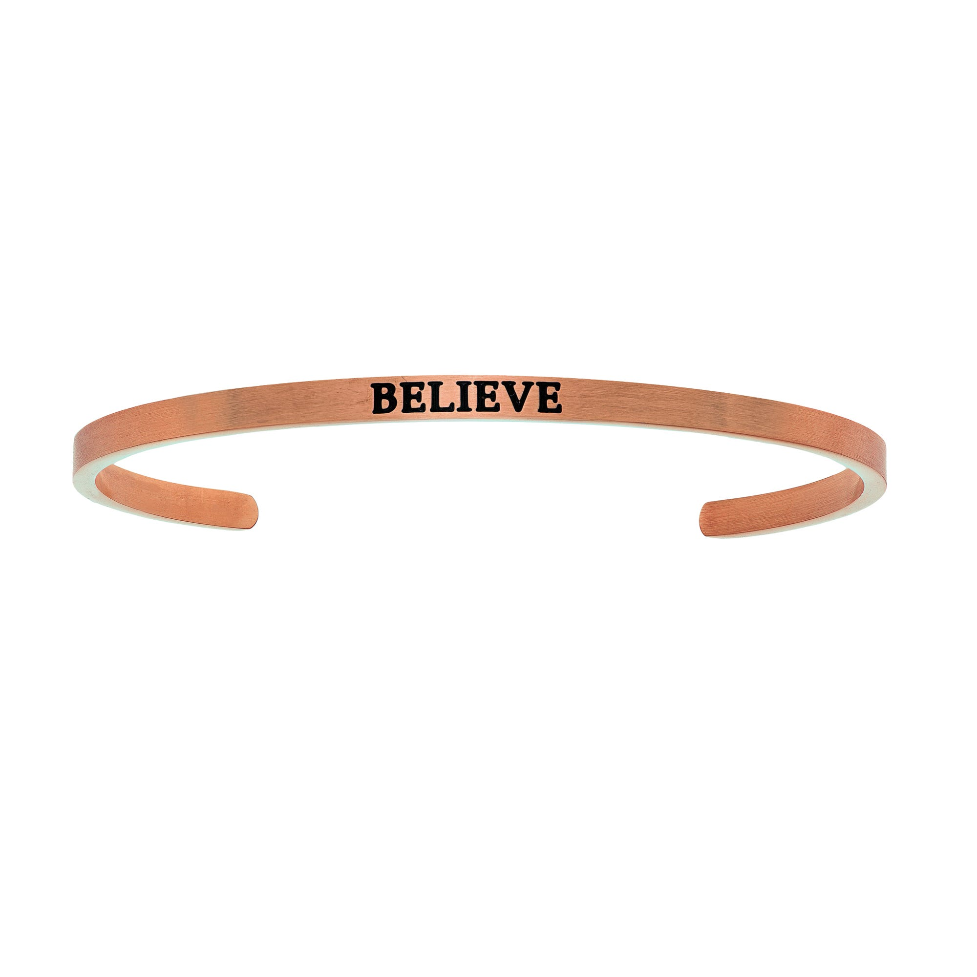 Believe. Intuitions Cuff Bracelet in Pink Stainless Steel