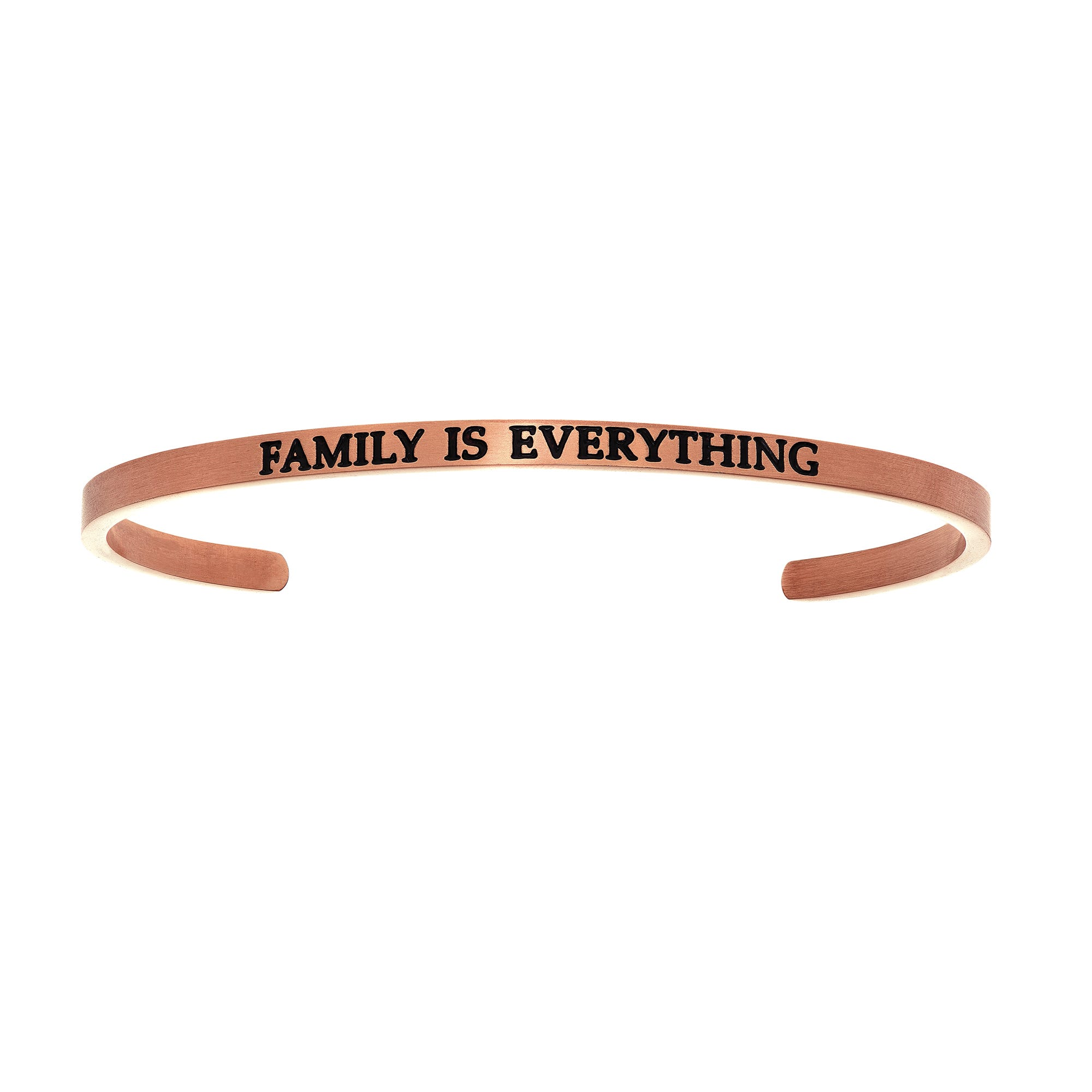 Family Is Everything. Intuitions Cuff Bracelet in Pink Stainless Steel