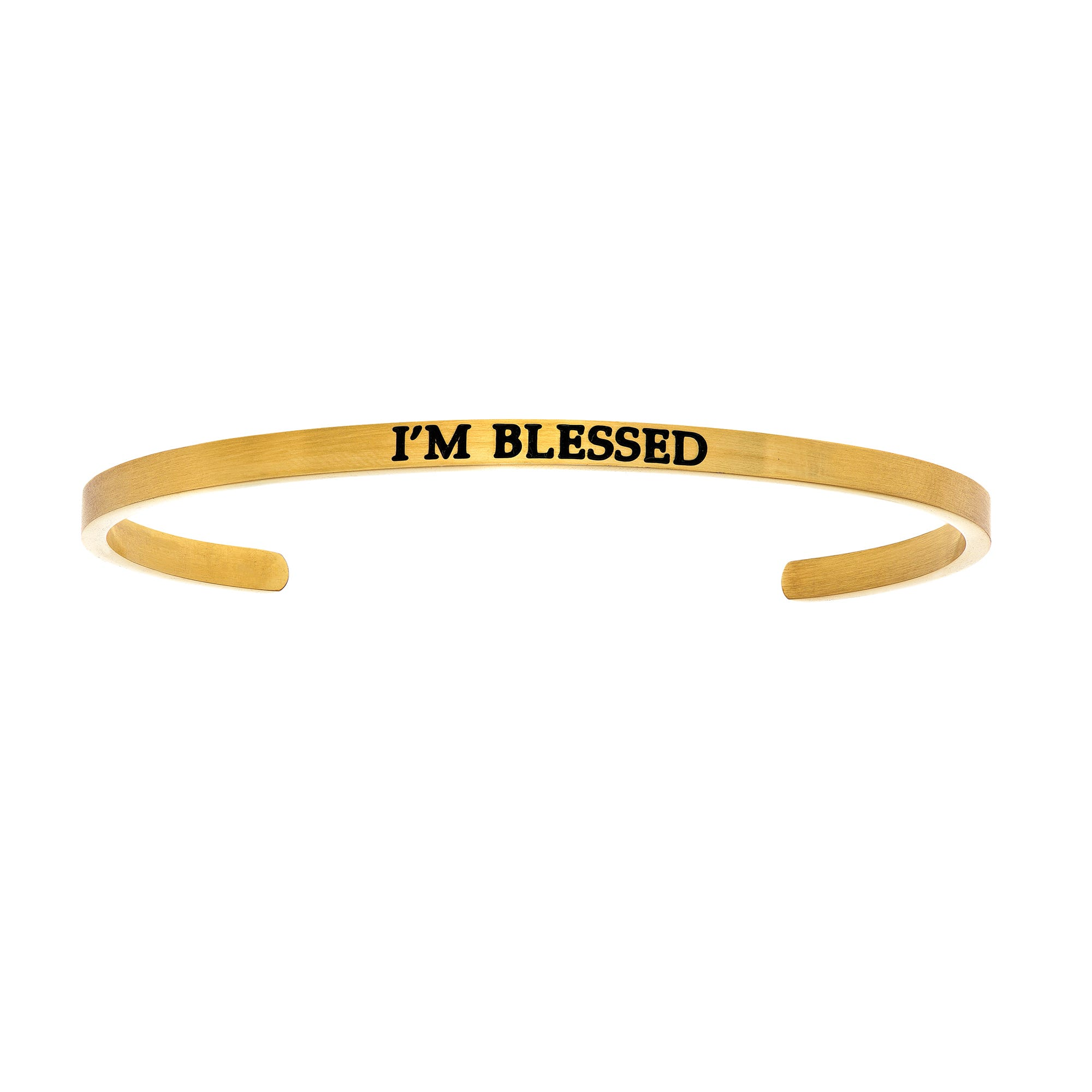 I'm Blessed. Intuitions Cuff Bracelet in Yellow Stainless Steel