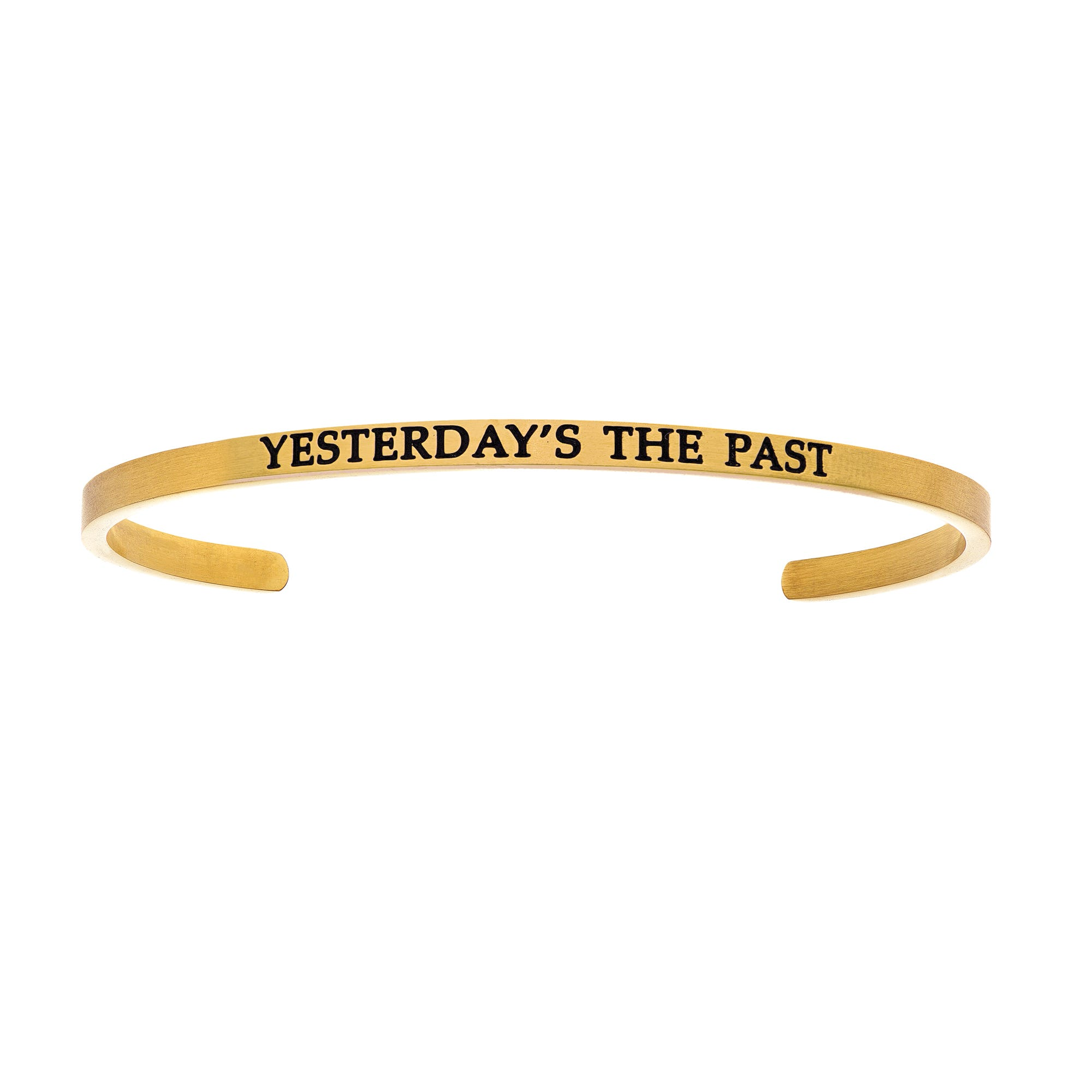Yesterdays The Past. Intuitions Cuff Bracelet in Yellow Stainless Steel