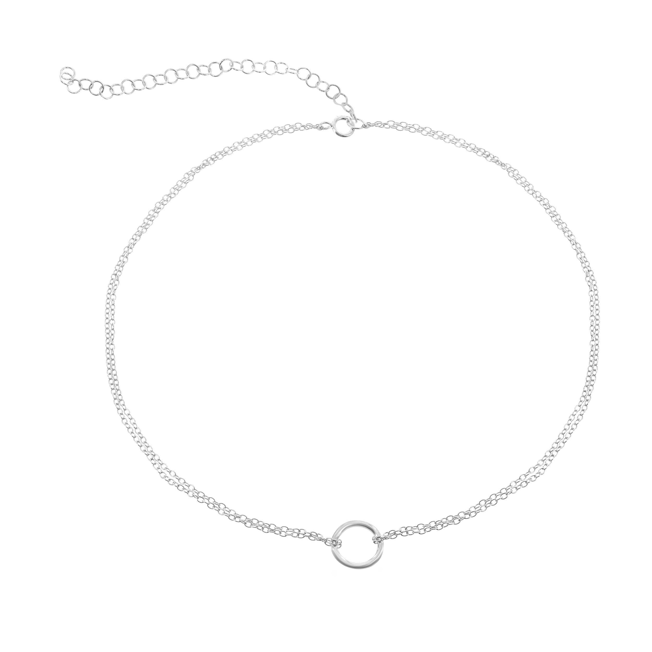 Circle Fashion Choker in Sterling Silver