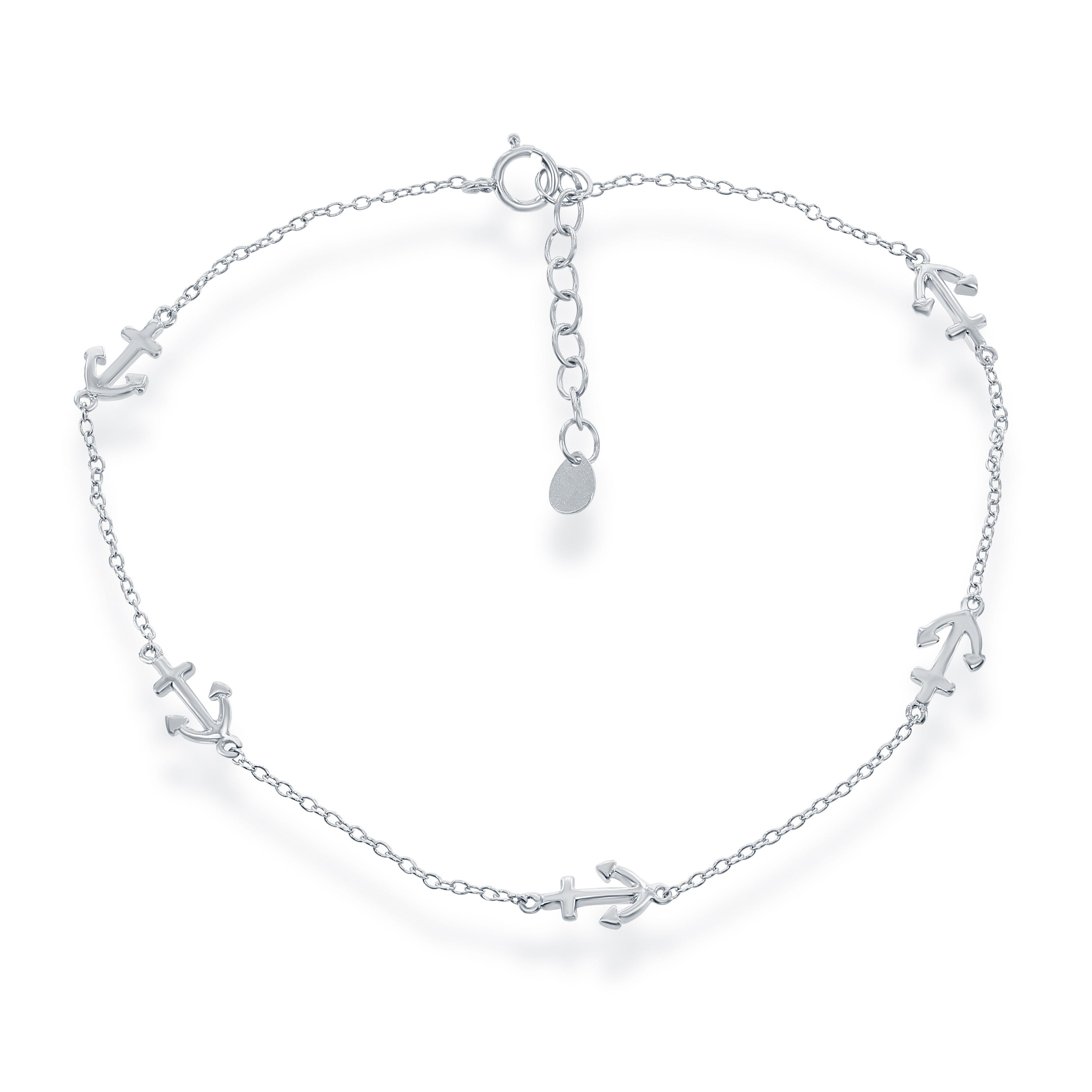 Anchor Fashion Anklet in Sterling Silver