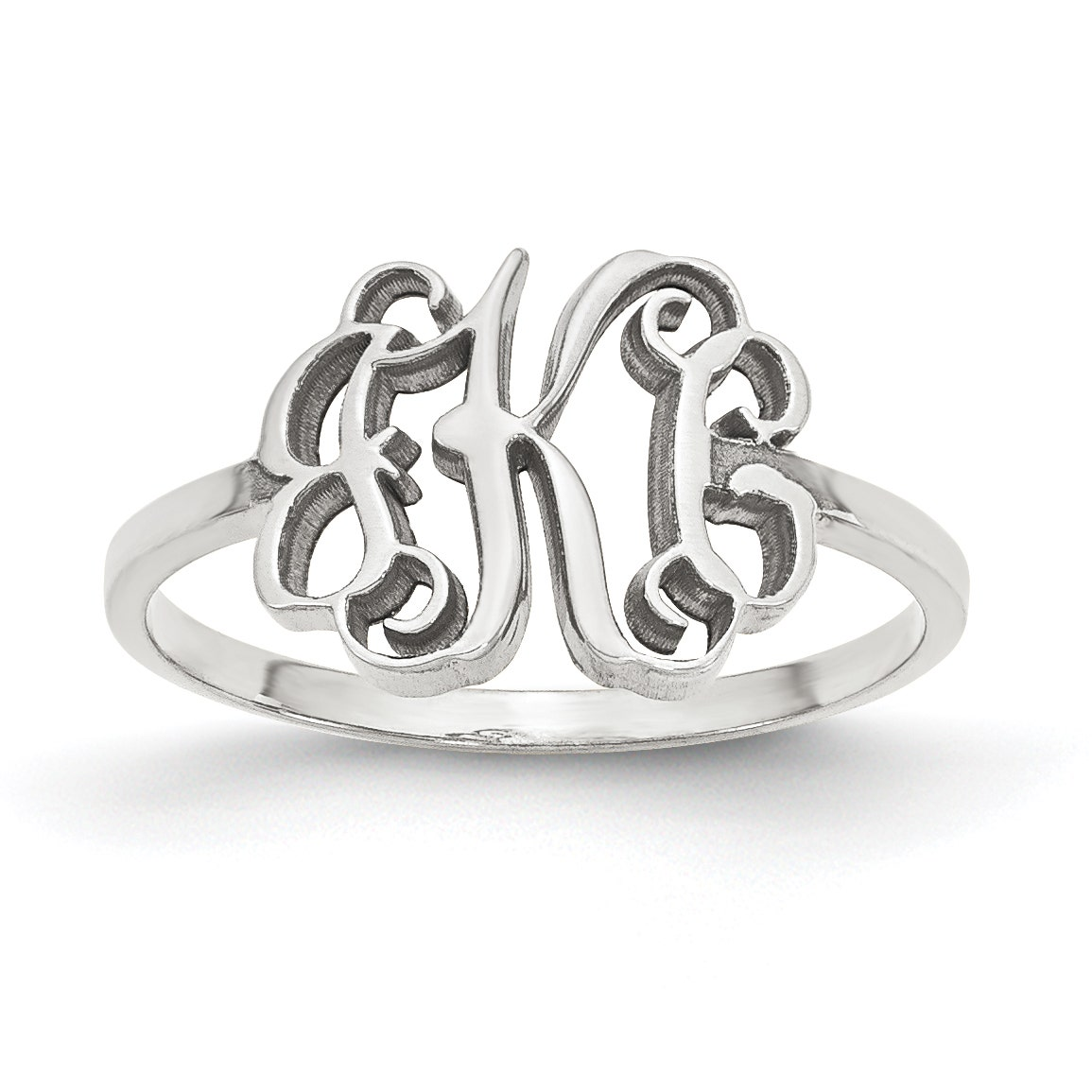 Jewelry Trends Love Script Promise Sterling Silver Ring Whole Sizes 6-9