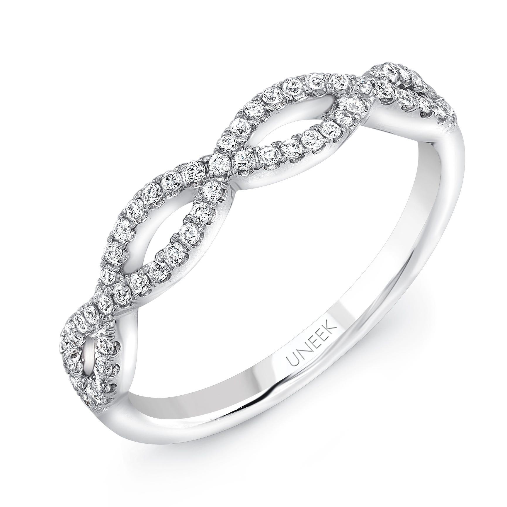 Uneek Diamond .20ctw. Infinity Wedding Band in 14K White Gold SWS189